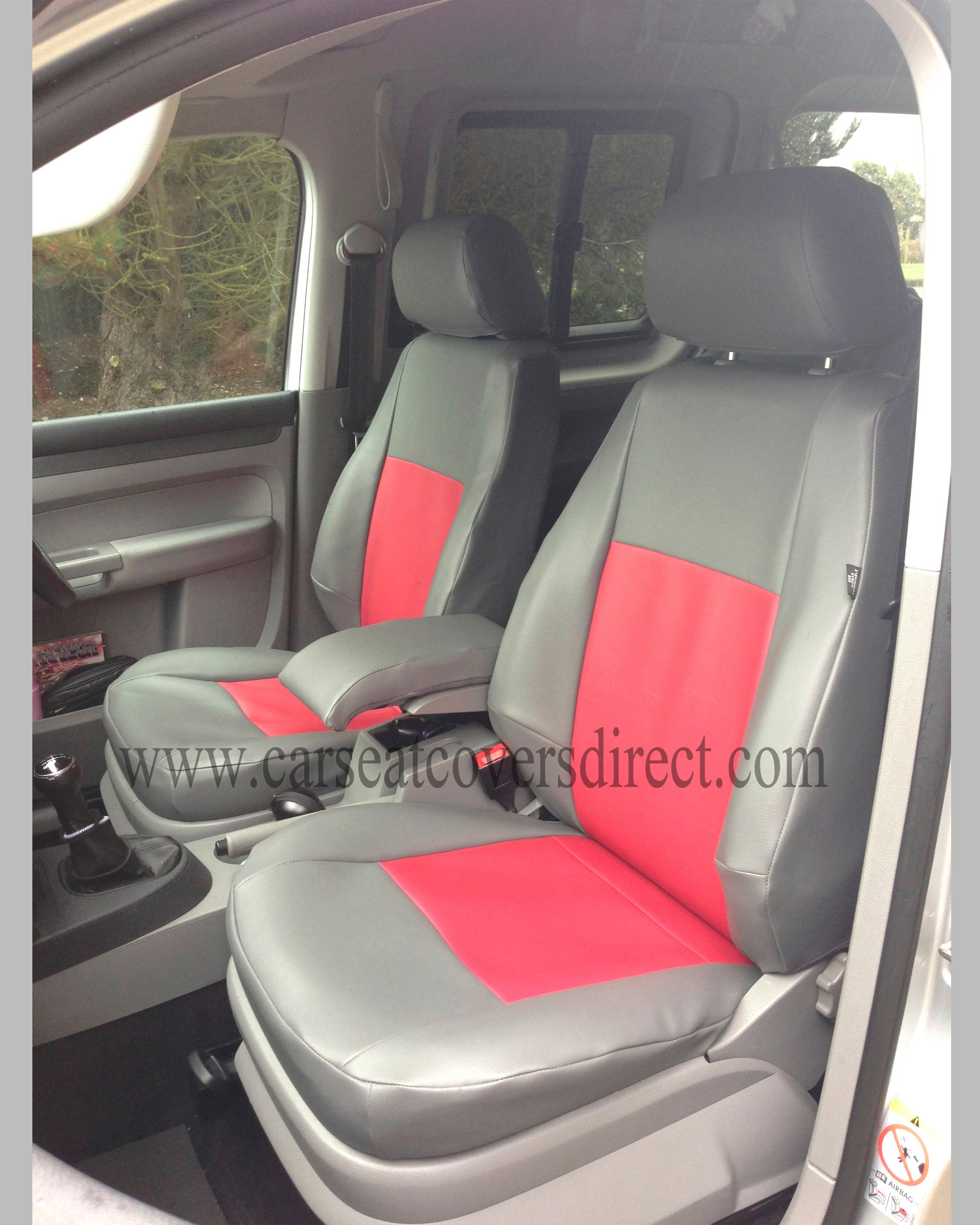 VOLKSWAGEN VW Caddy life grey & red Seat Covers