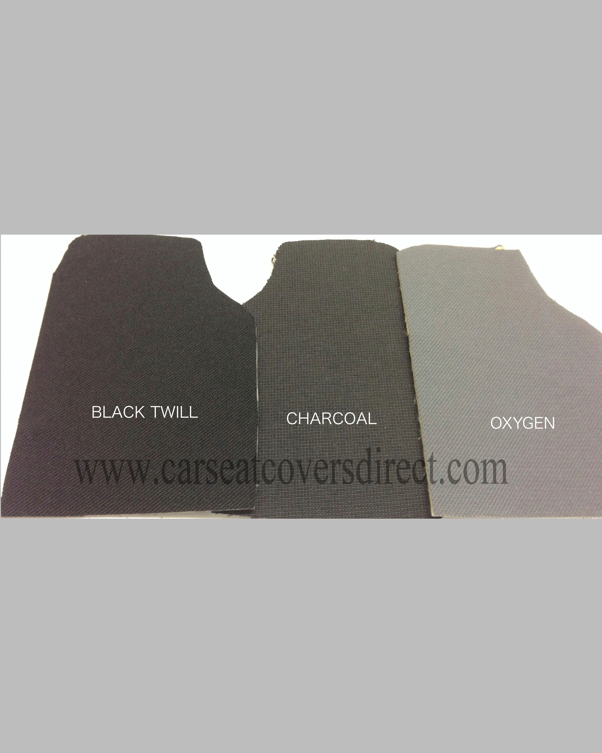 Black twill, Charcoal and Oxygen