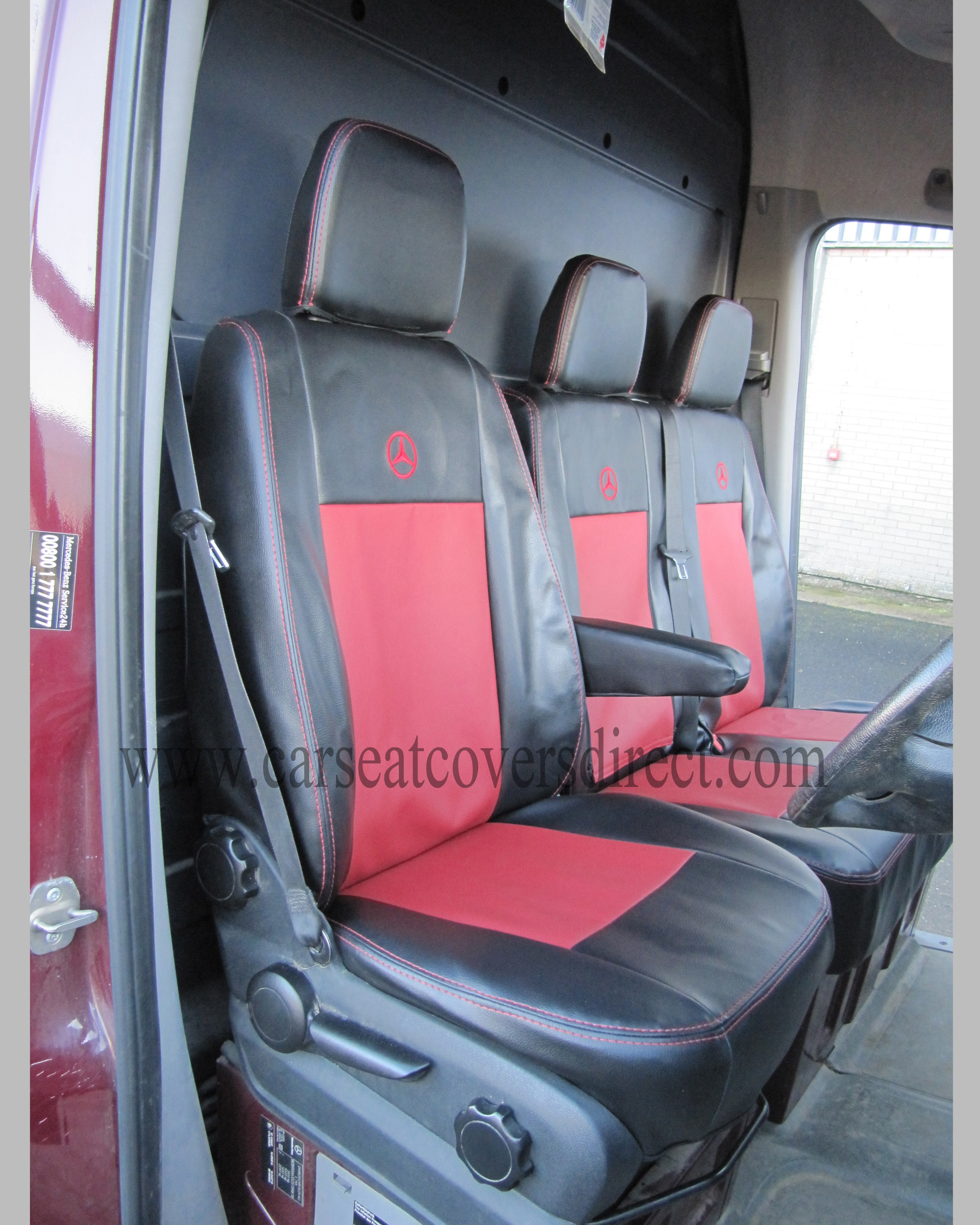 Drivers seat with seat covers