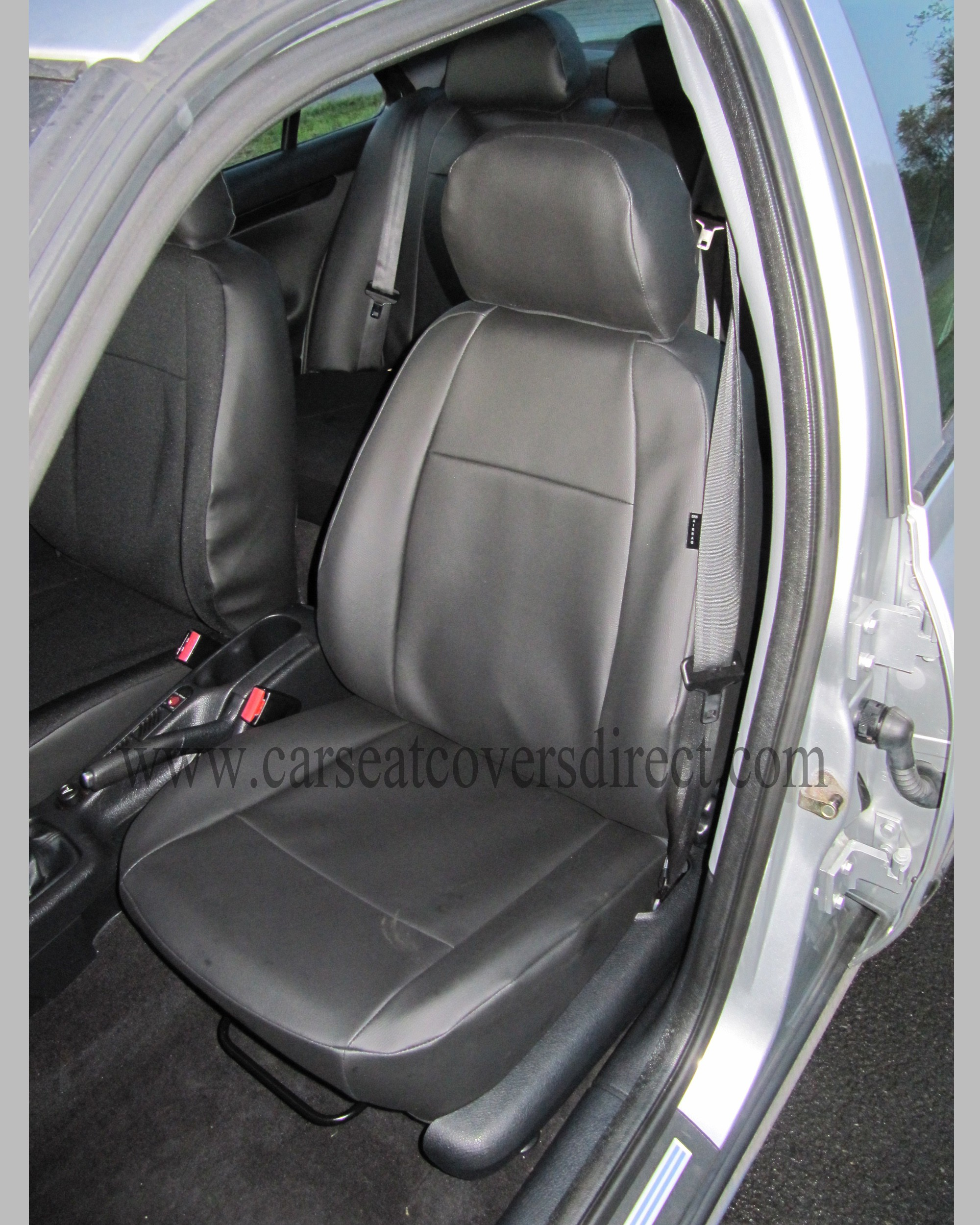 Custom PEUGEOT 406 Black Leatherette Seat Covers