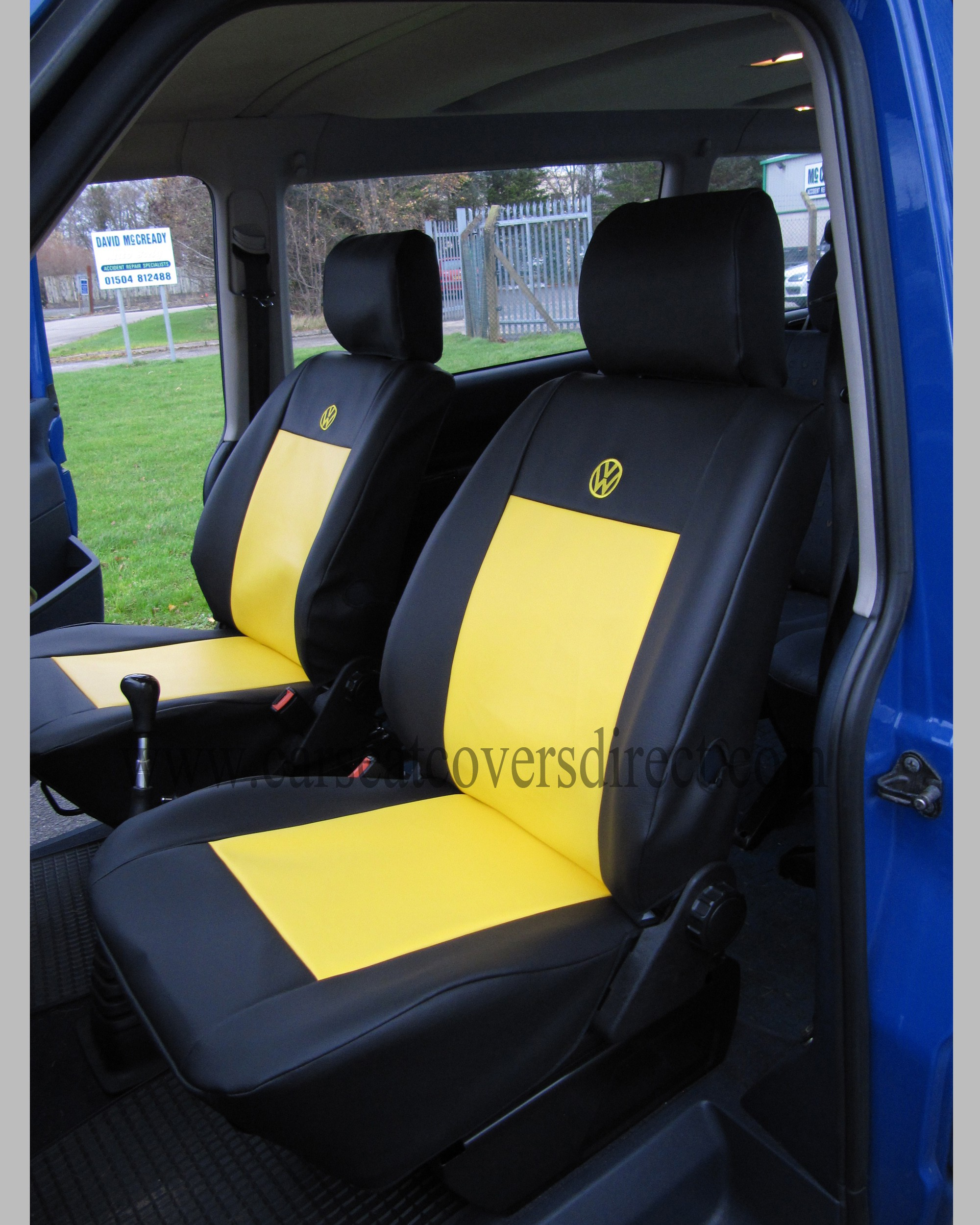 VOLKSWAGEN VW Transporter T4 black & yellow seat covers