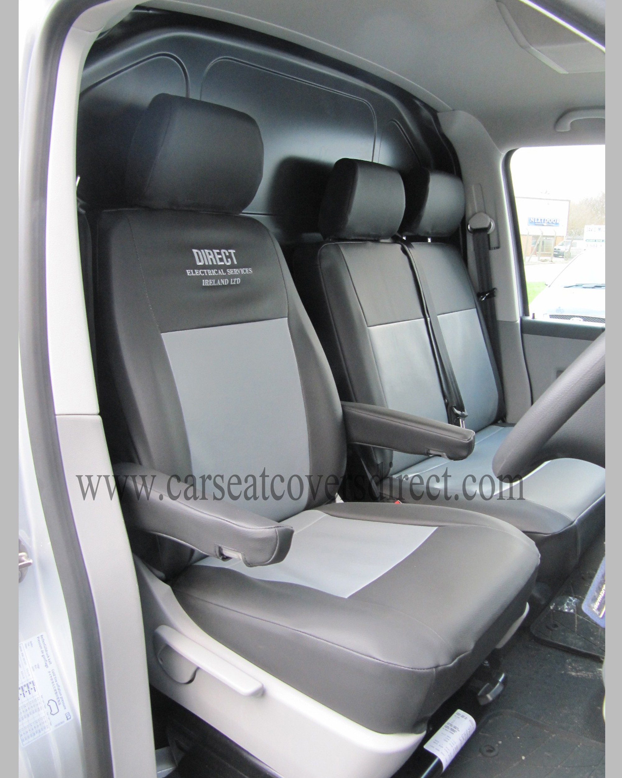VW Transporter T5 black and grey seat covers