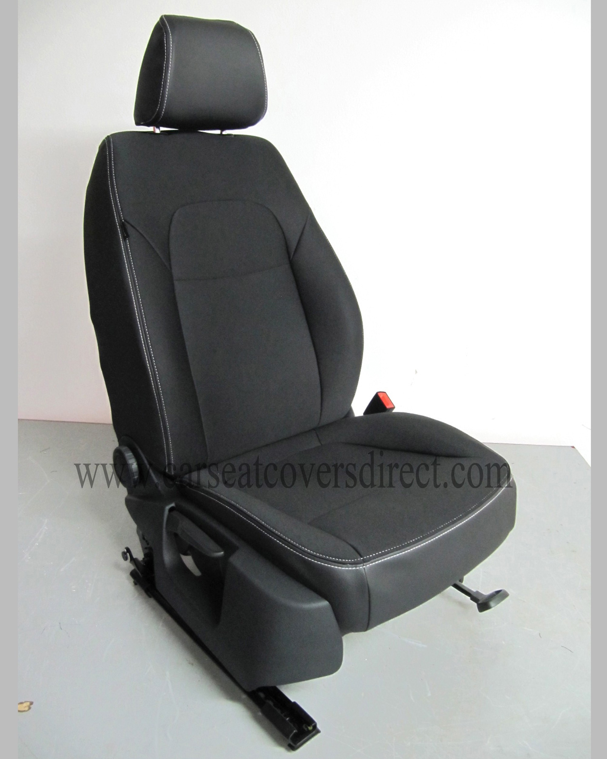SKODA SUPERB 2ND GEN Black Cloth Seat Covers