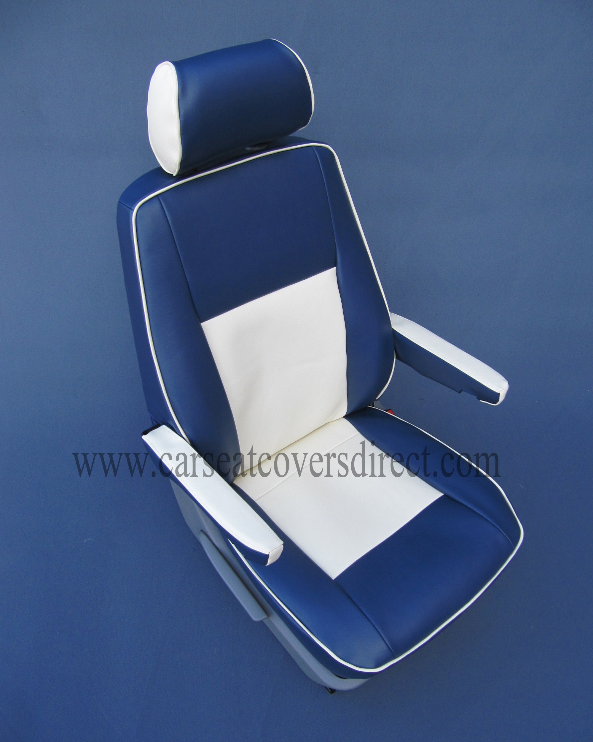 Volkswagen VW Transporter T6 Seat Covers - Blue & White