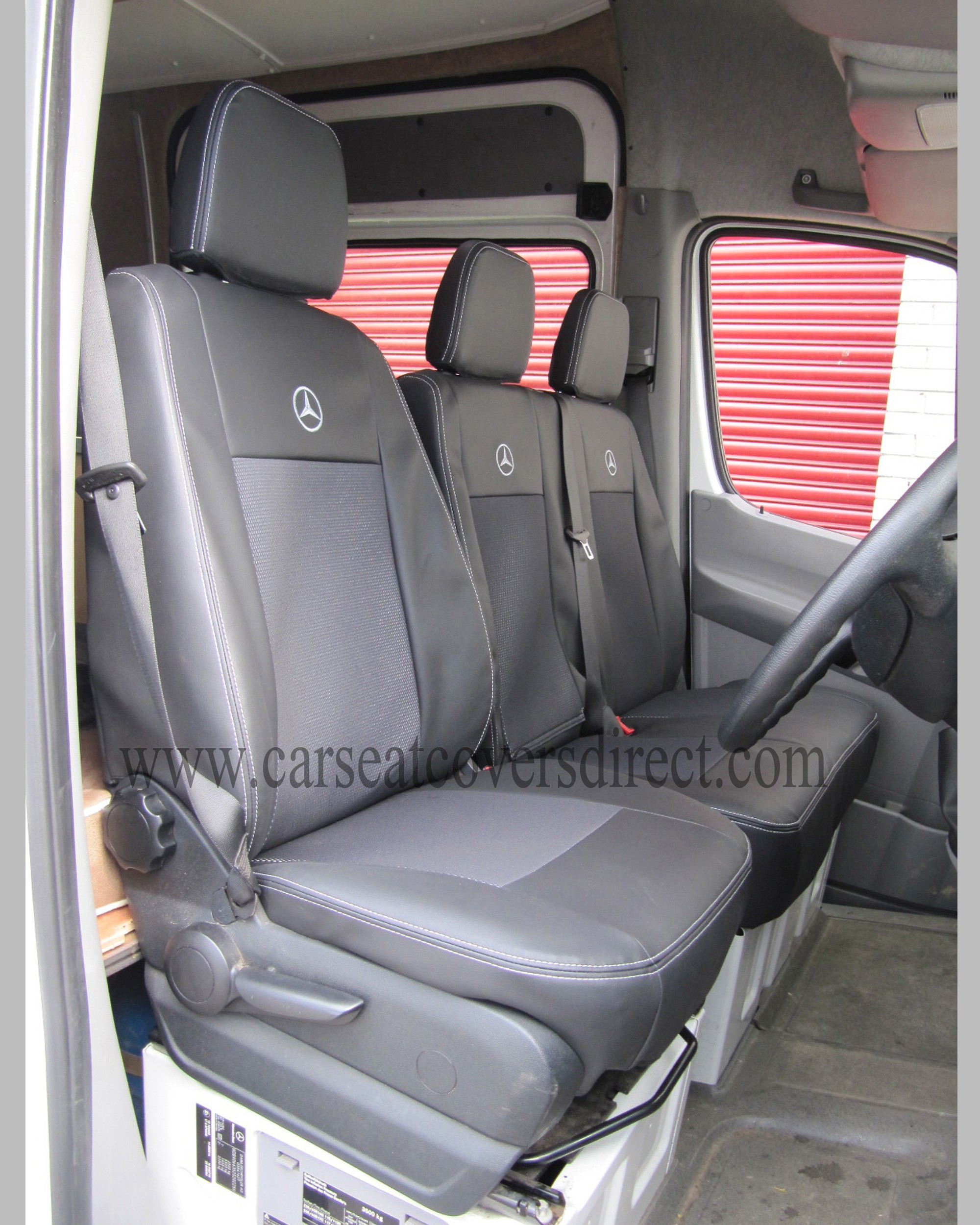 MERCEDES SPRINTER 2ND GEN Black With Cloth Centre Seat Covers