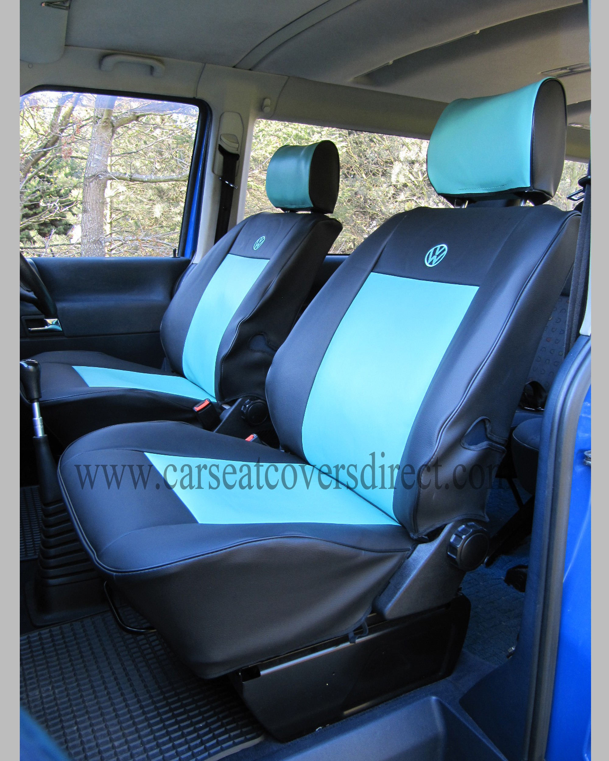 VOLKSWAGEN VW Transporter T4 Black & Blue Seat Covers