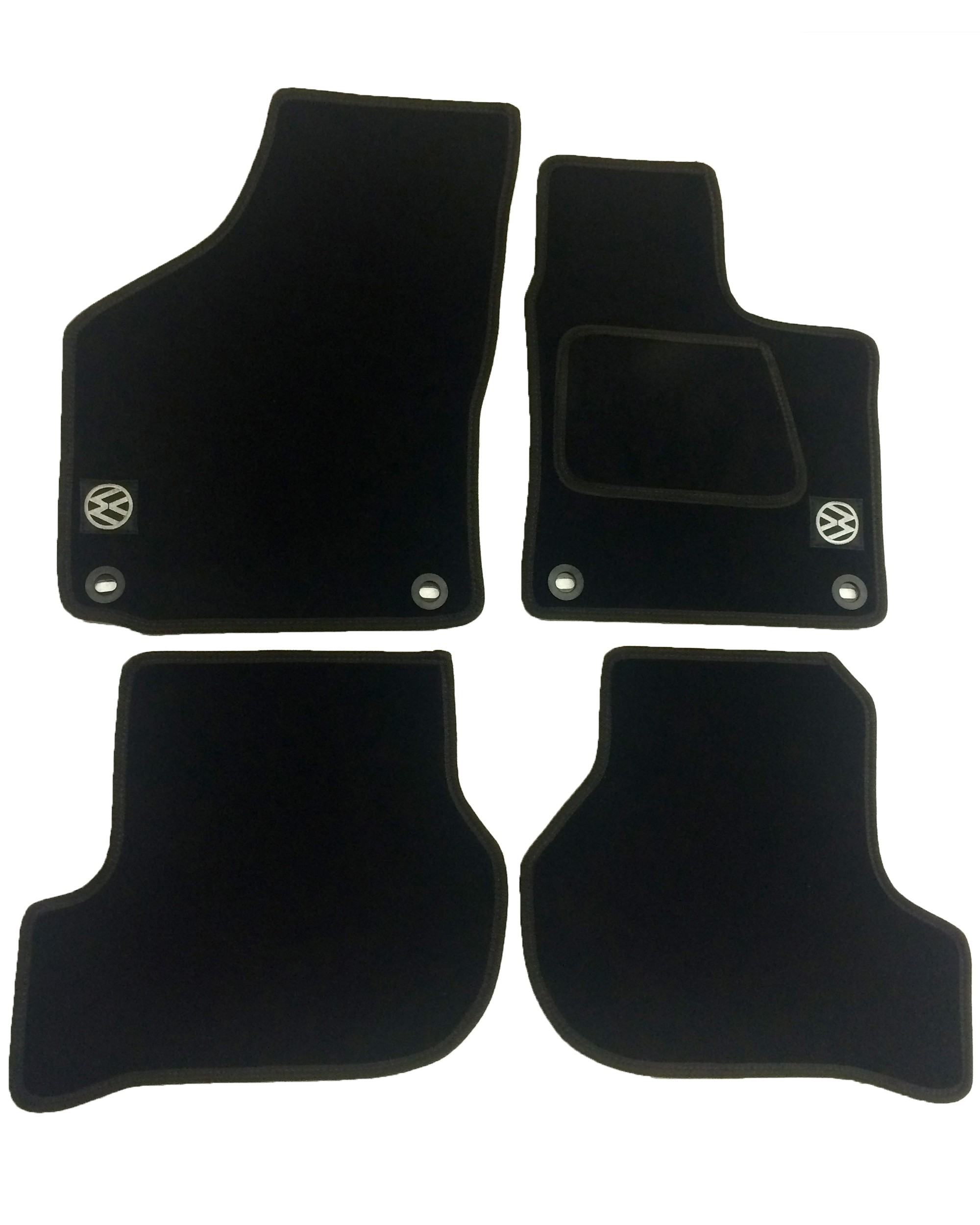 Volkswagen VW Jetta MK5 Tailored Car Mats with logos (2005 - 2010)