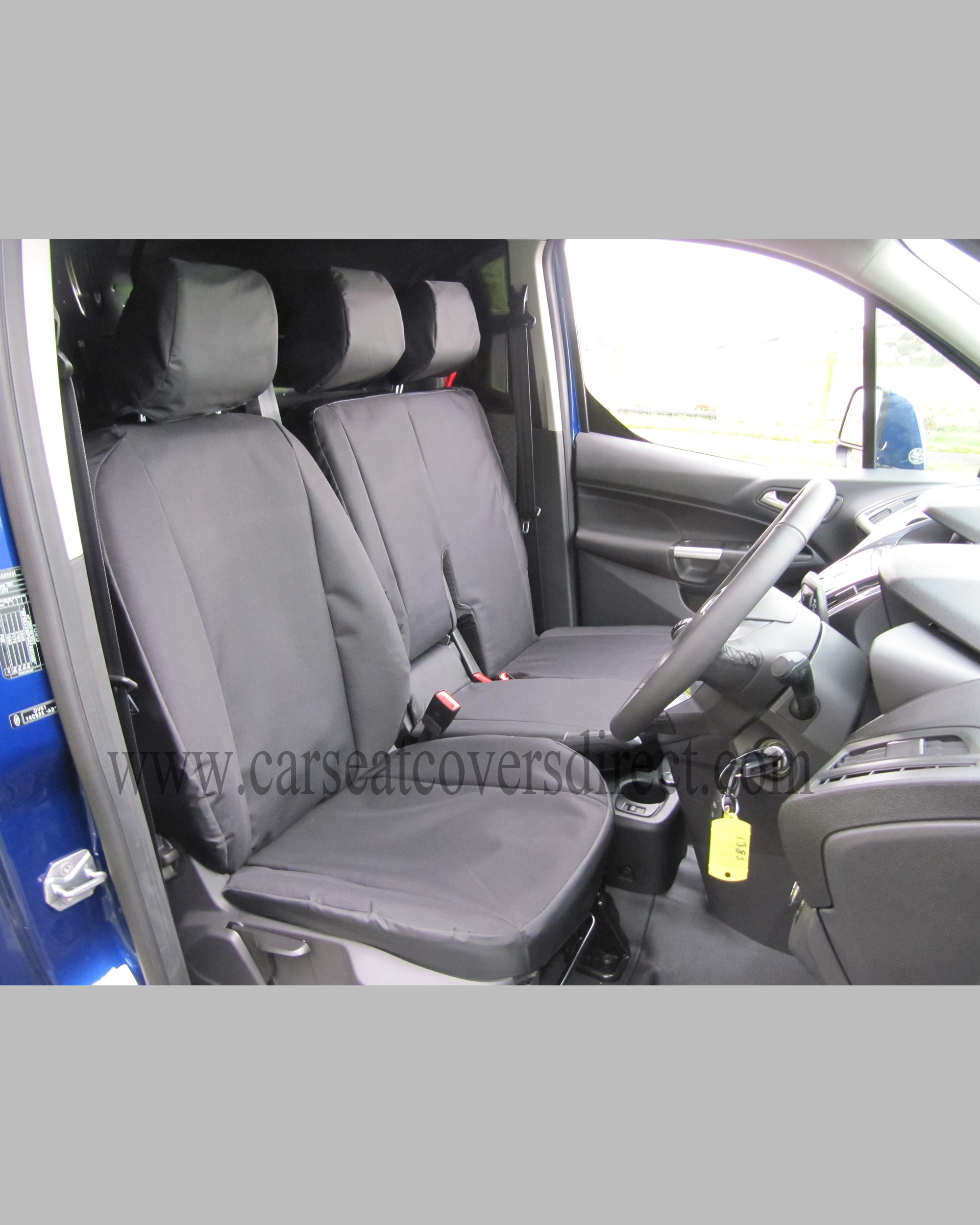 Ford Transit Connect Extra Heavy Duty Black Seat Covers (2nd Generation)