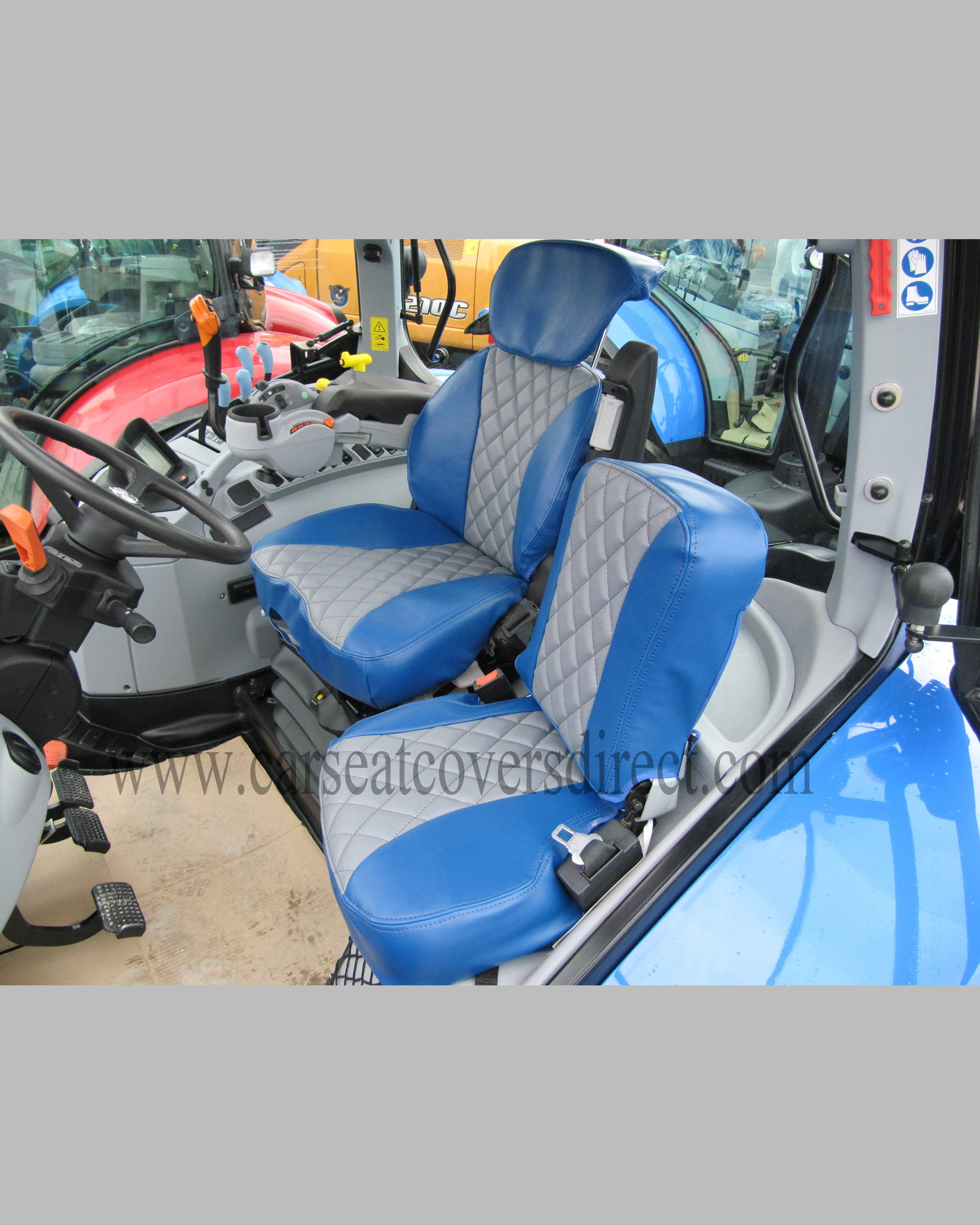 Grammer Maximo Dynamic Diamond Quilted Tailored Seat Covers for New Holland & CASE IH.