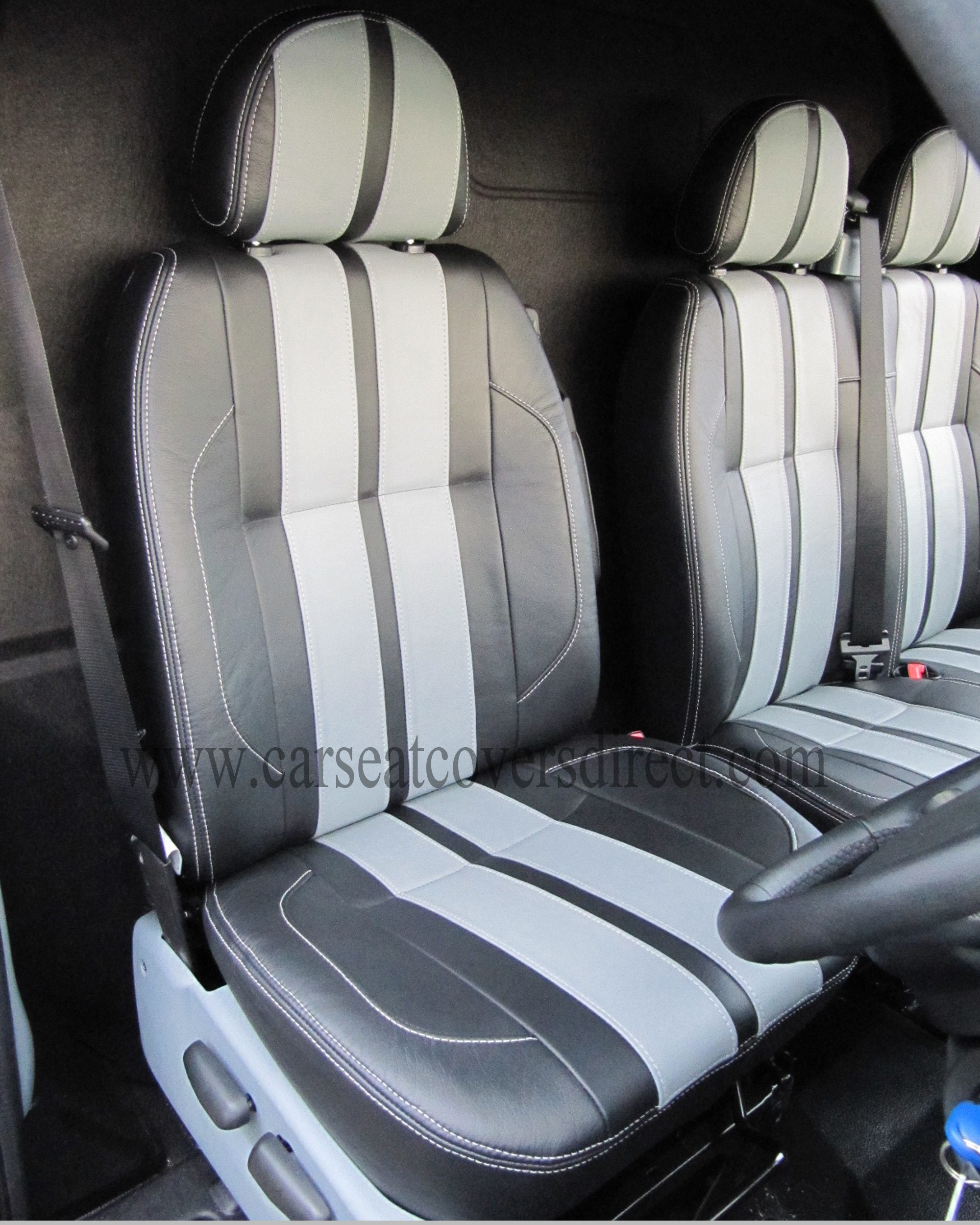 FORD TRANSIT 5th Gen Custom Made LEATHER RETRIM. 2 Tone leather Sport Line Design.