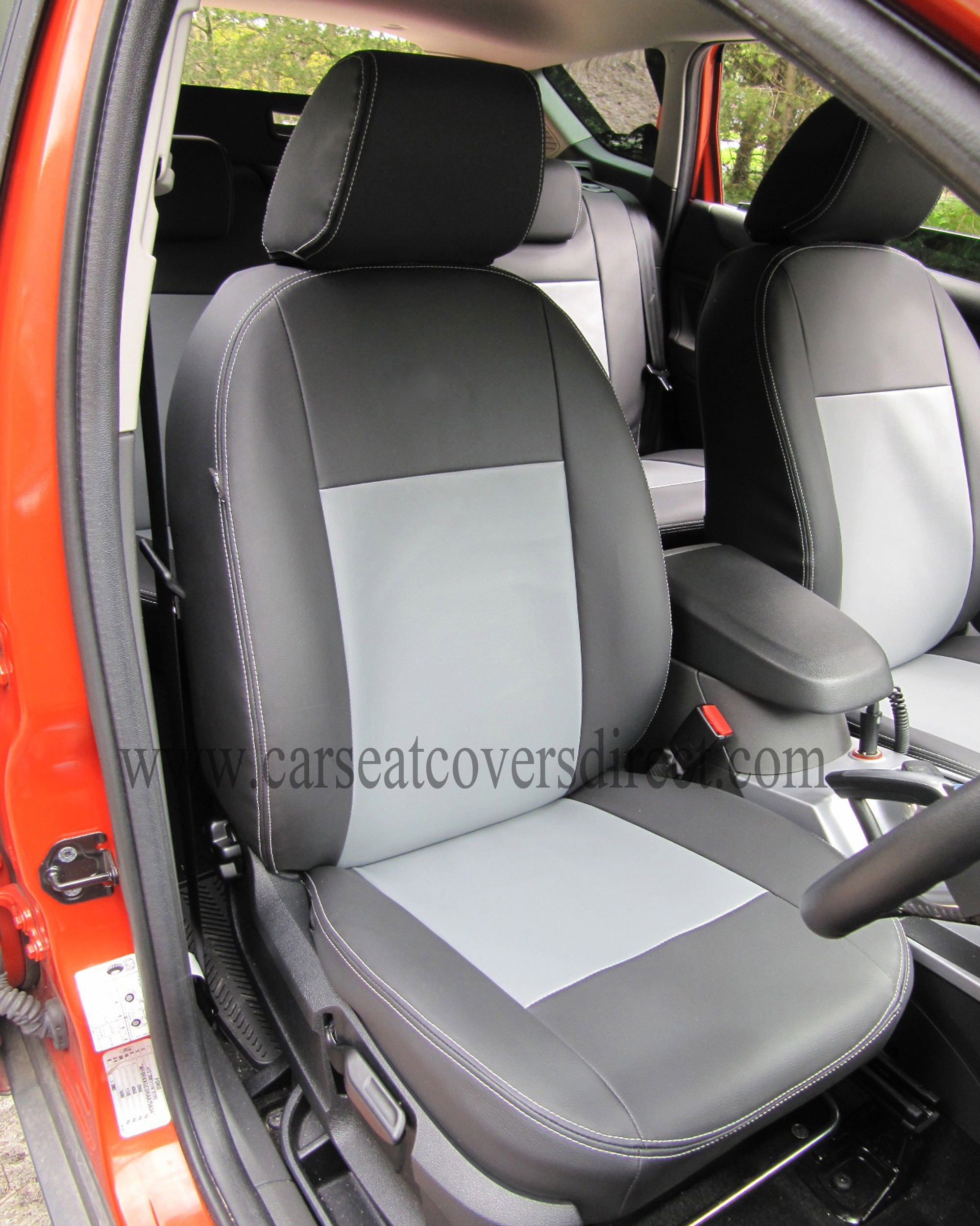 FORD KUGA 1st Gen Black & Grey Seat Covers