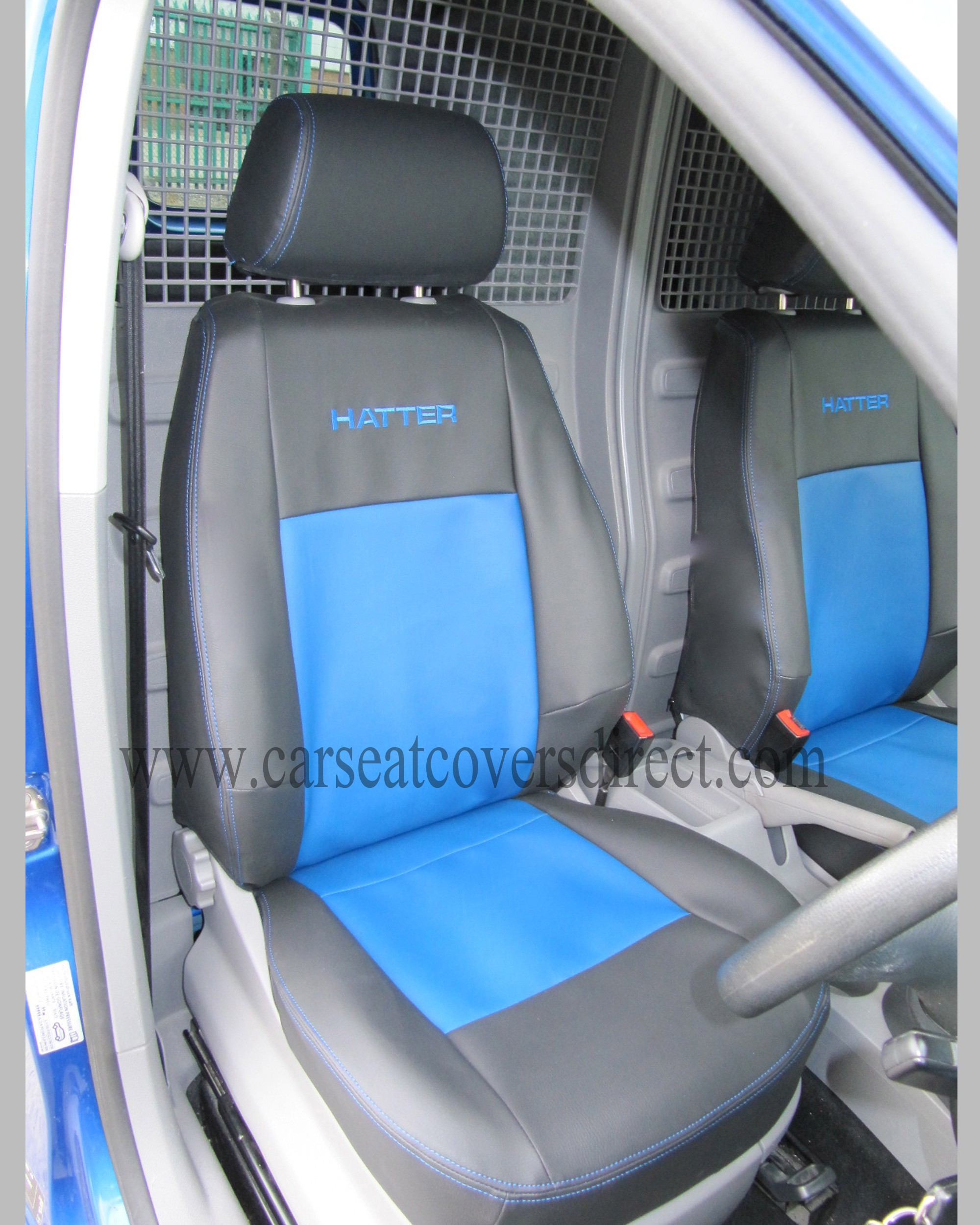 VOLKSWAGEN VW CADDY black & blue Seat Covers