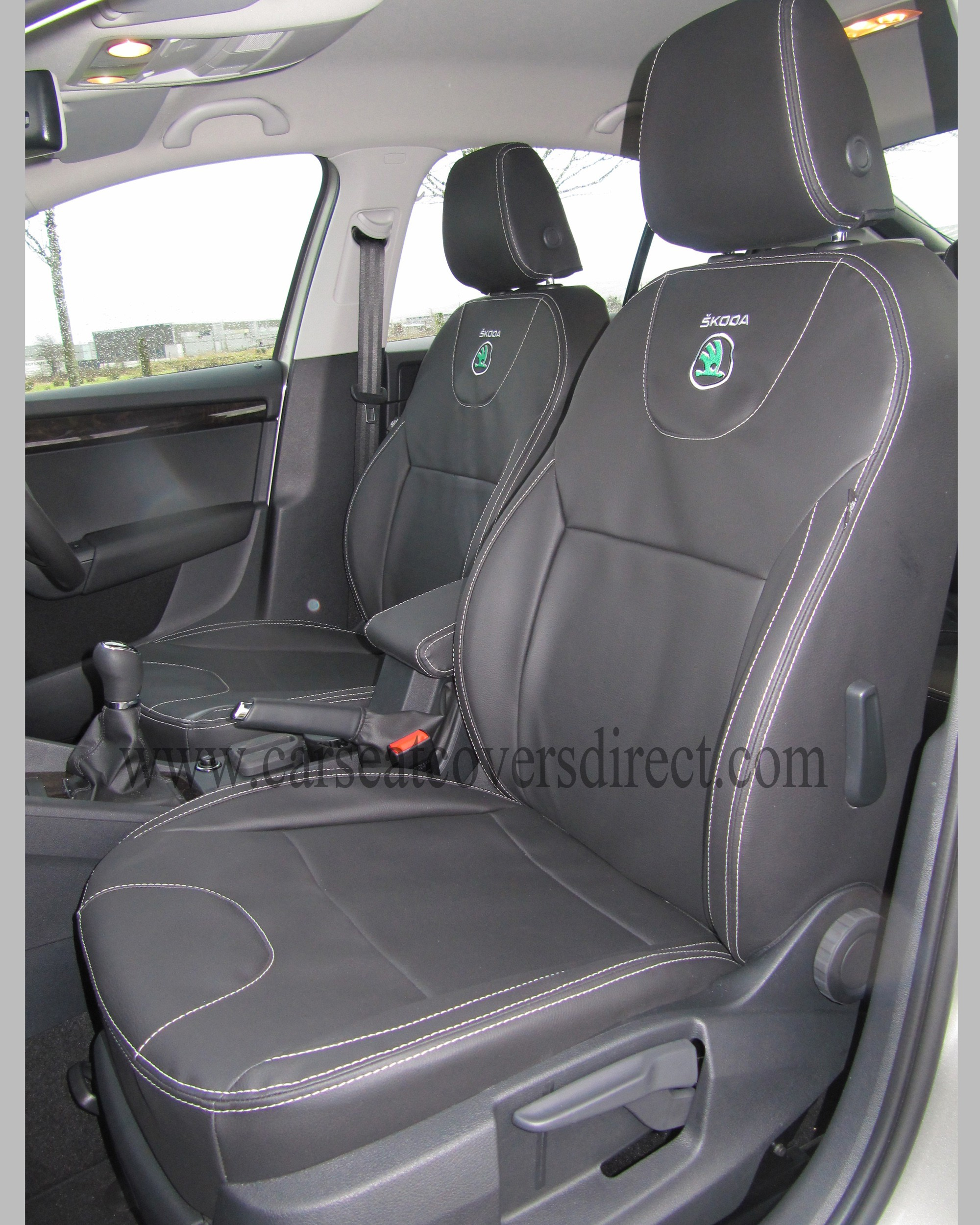 SKODA OCTAVIA 3RD GEN Black Seat Covers
