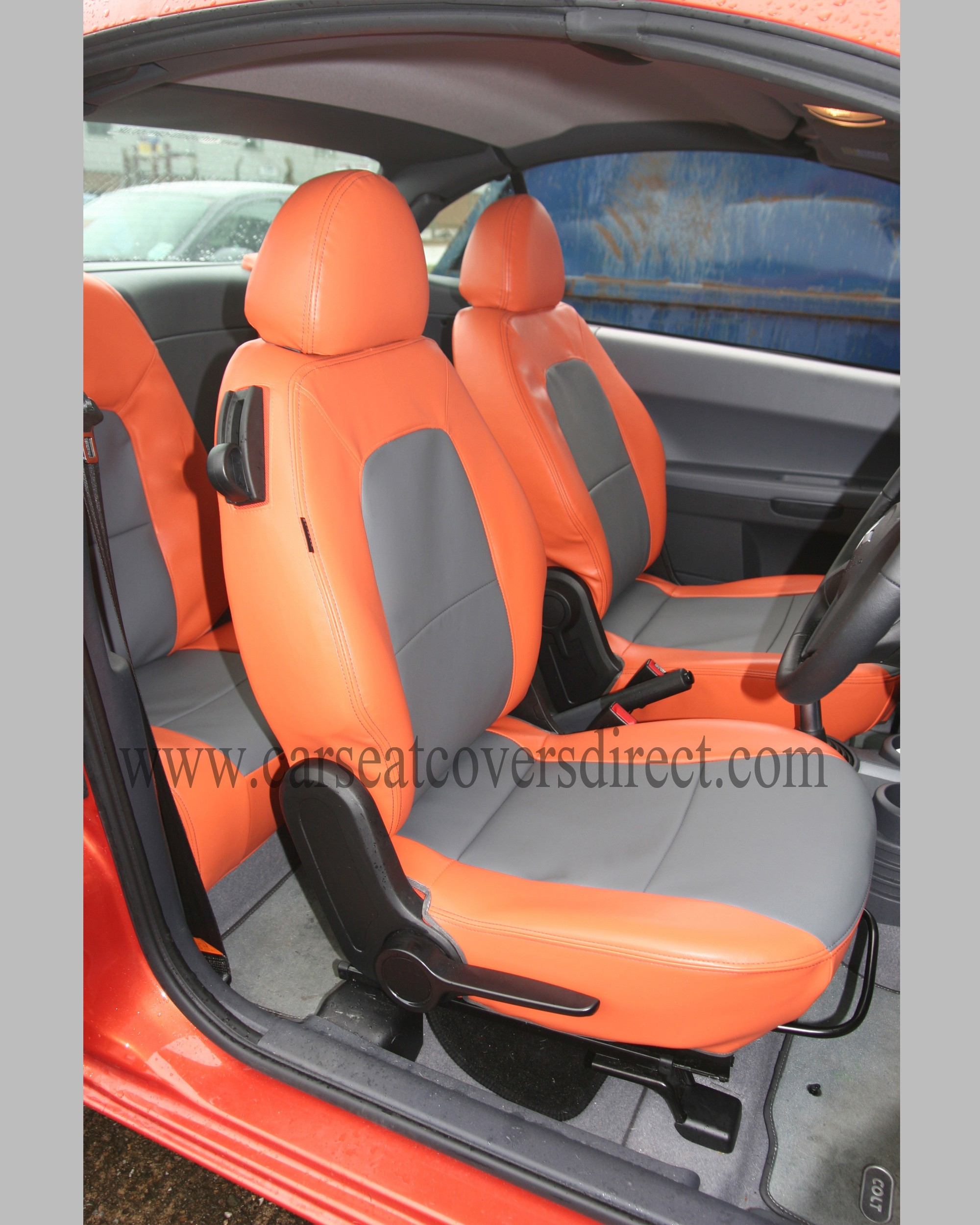 MITSUBISHI COLT 7TH GEN Orange & Grey Seat Covers