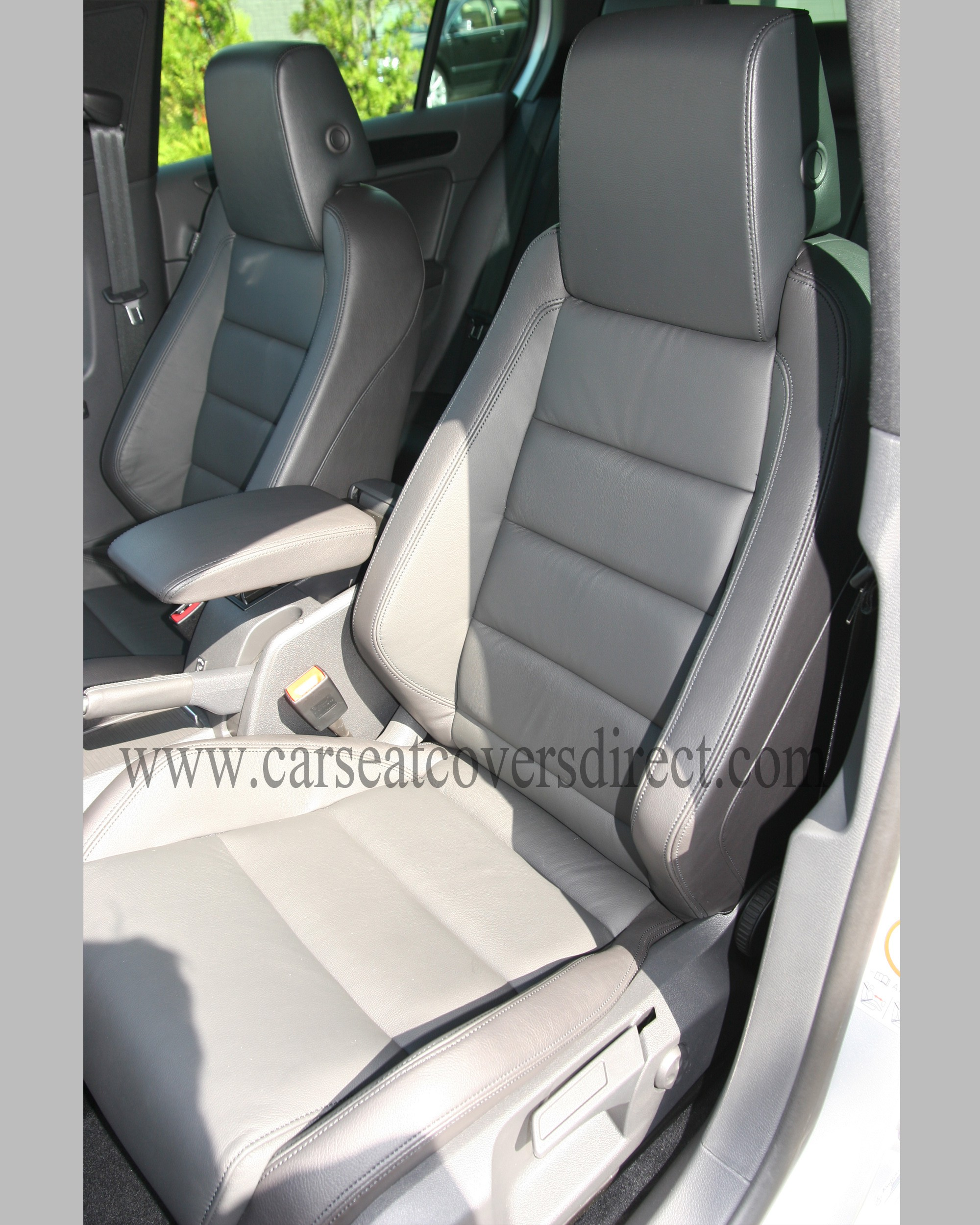 Passenger seat with leather retrim