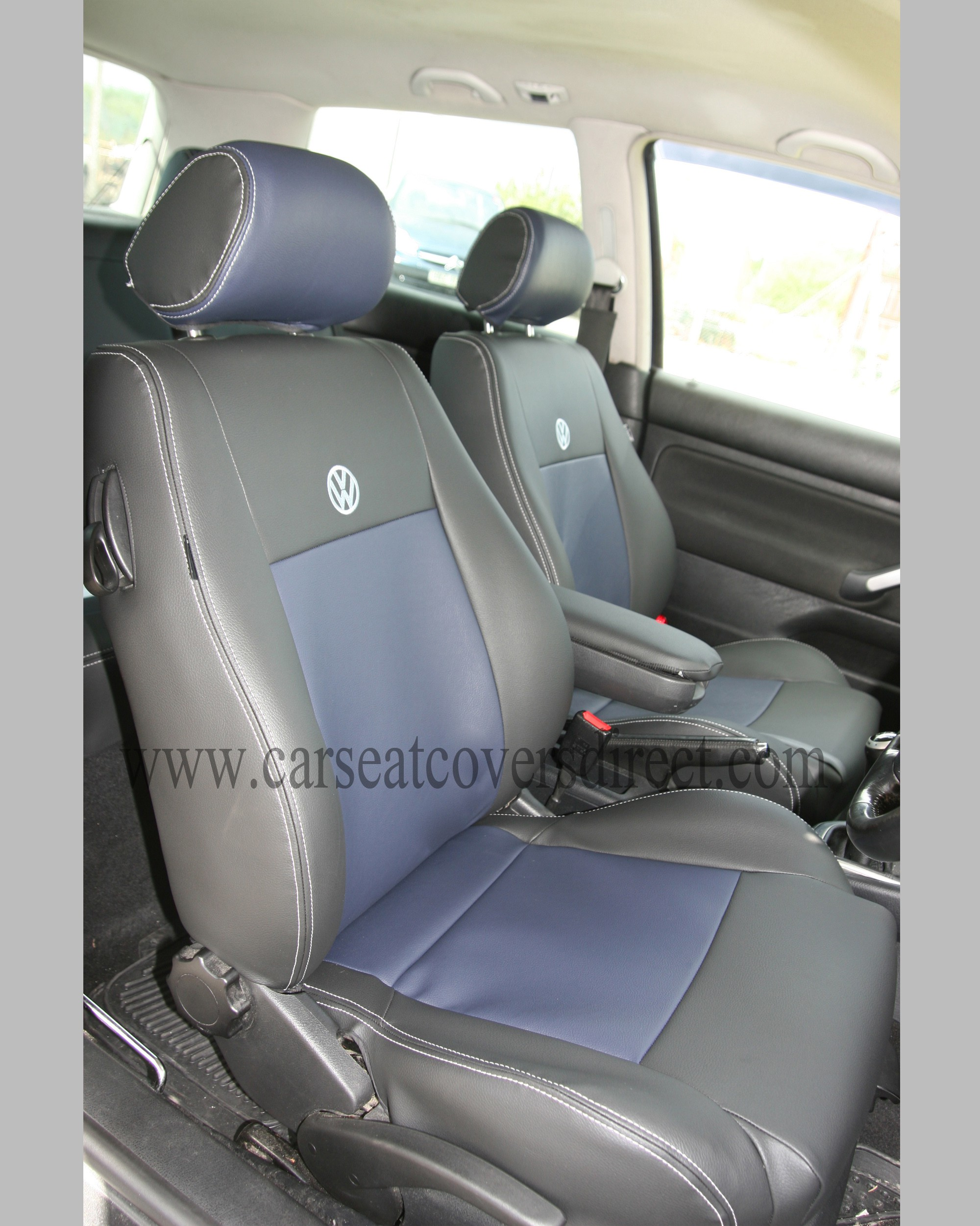 VOLKSWAGEN VW GOLF MK4 Black & Blue Seat Covers