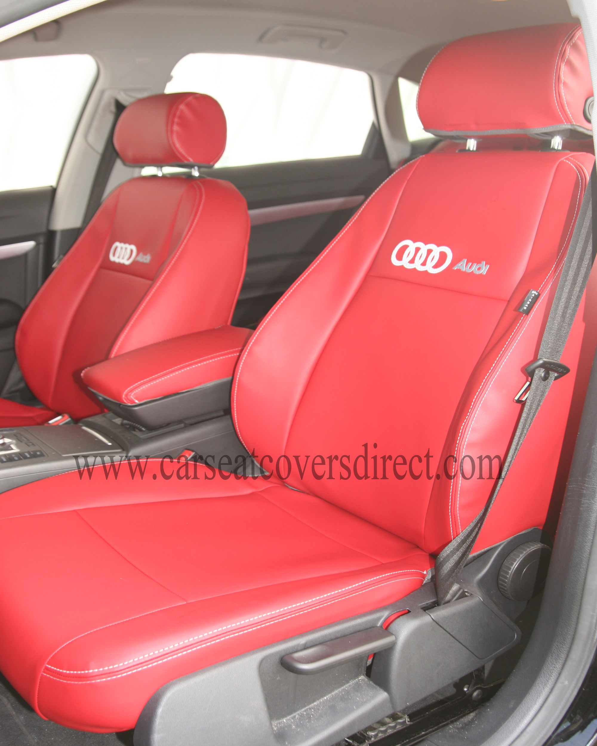 AUDI A6 red seat covers 3RD GEN
