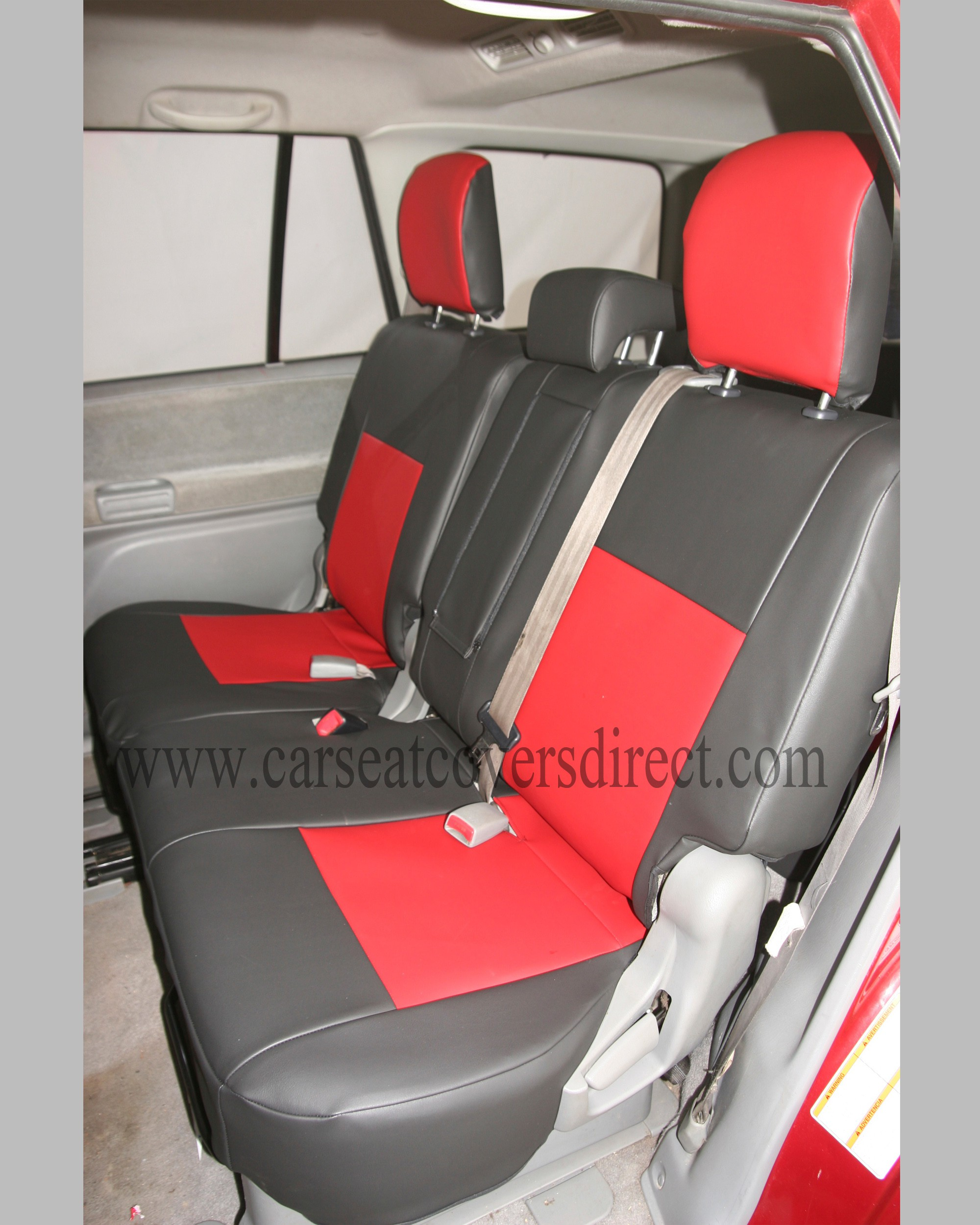 SUZUKI GRAND VITARA 2ND GEN Black & Red Seat Covers
