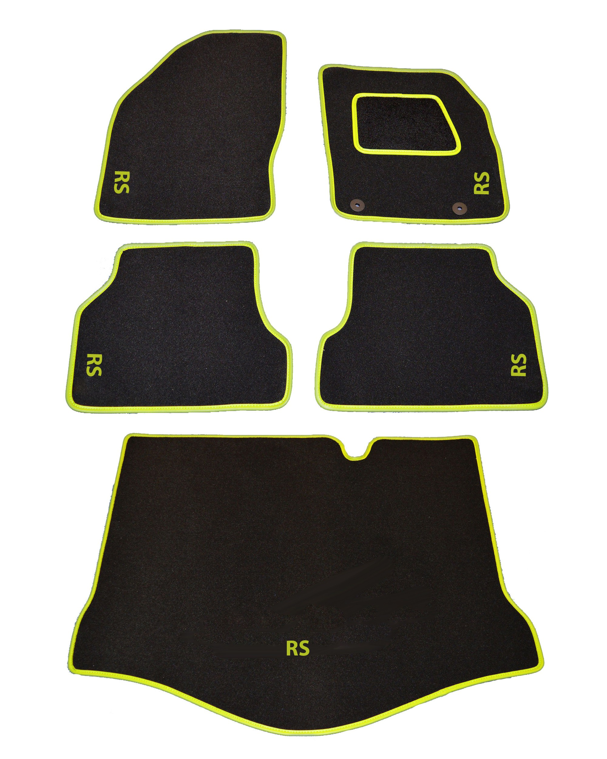 Ford Focus RS MK2 Standard Tailored Car Mats With Custom Boot Mat