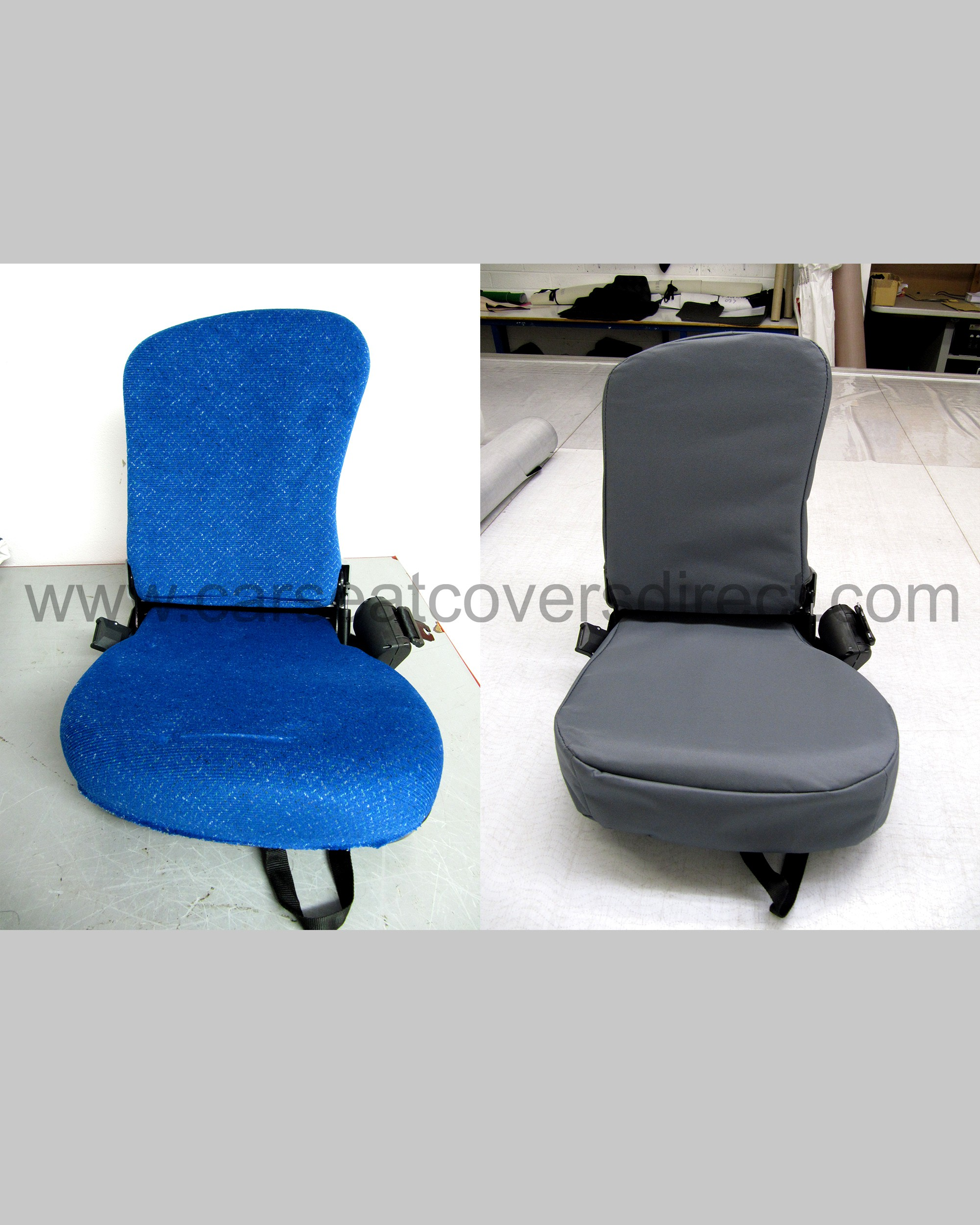 New Holland T6000 Series Seat Cover Before and After