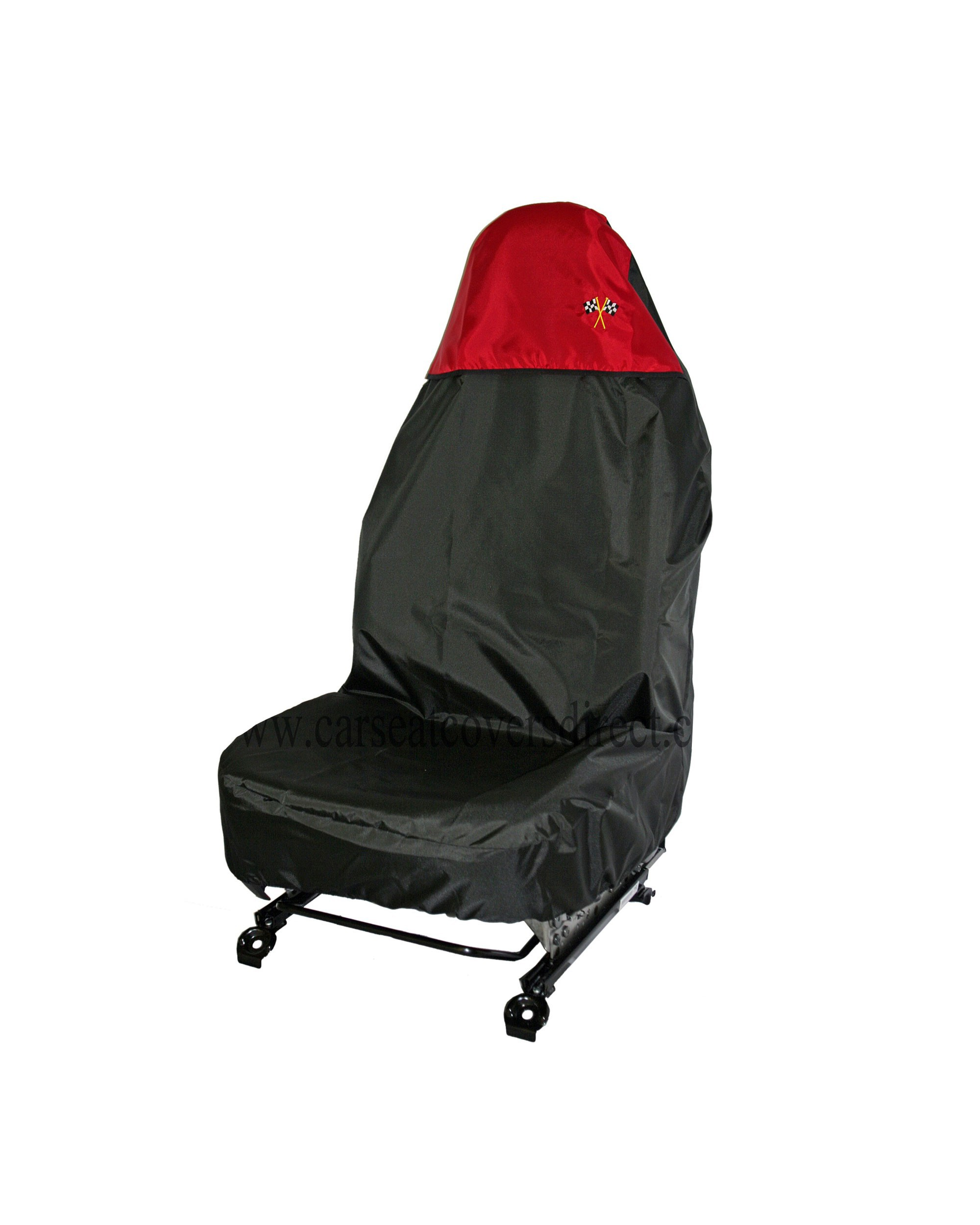 Polyester seat protector in red