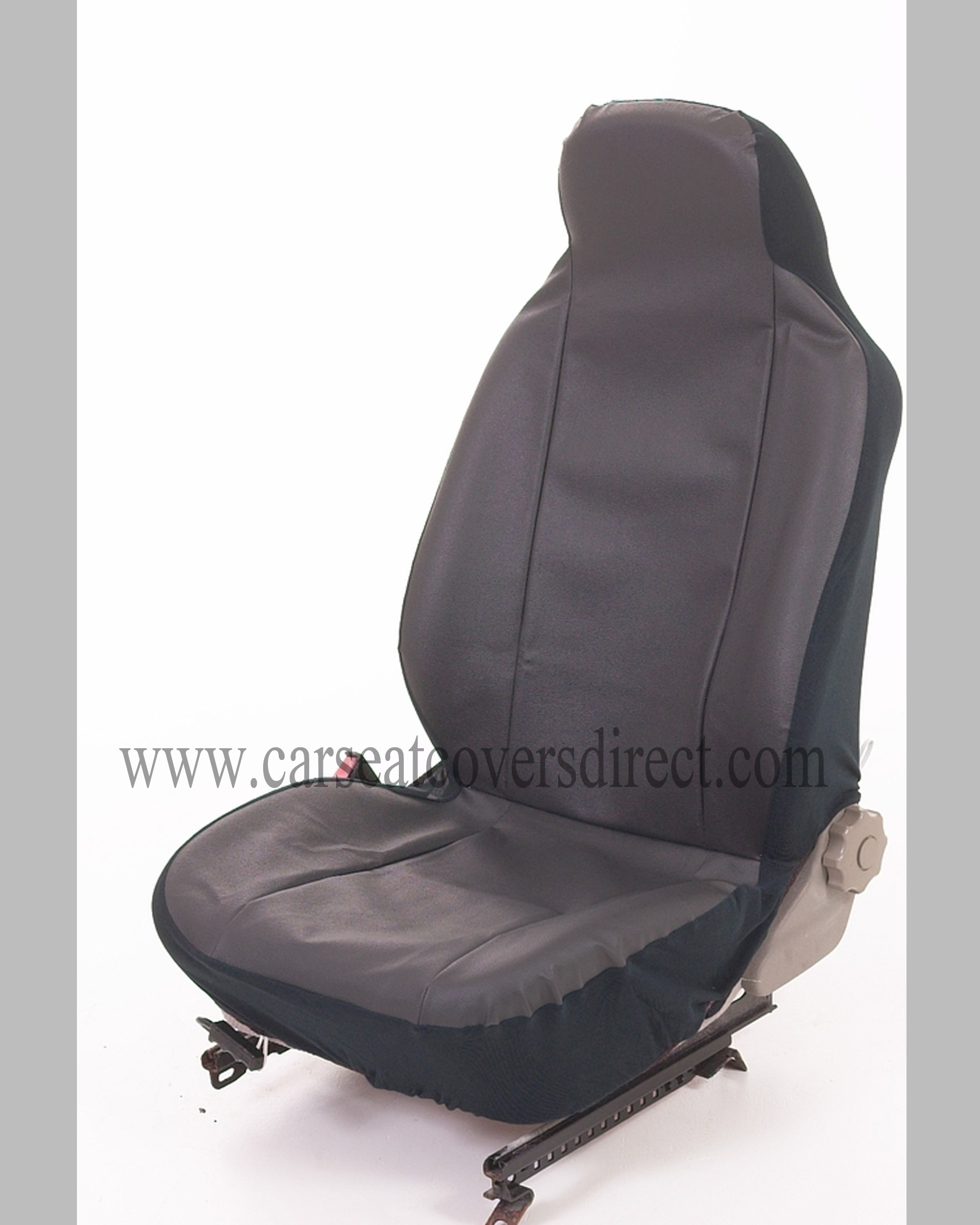 Single seat protector leatherette