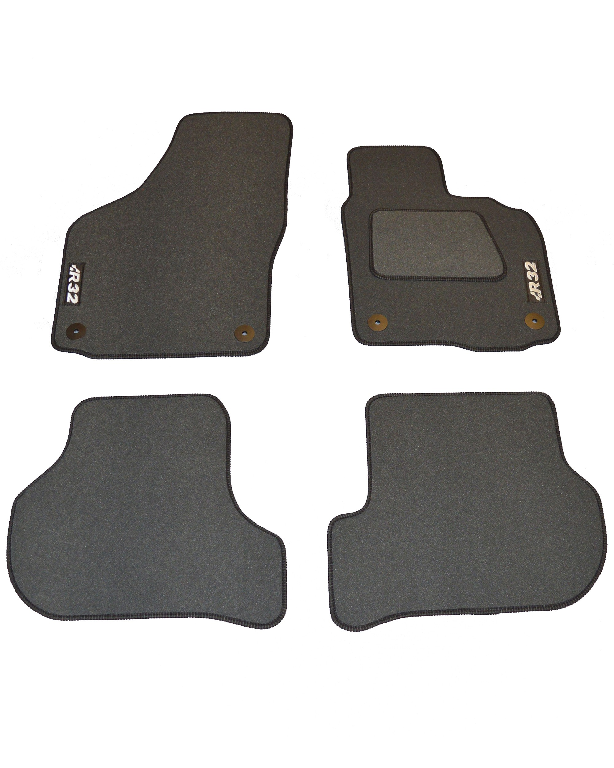 Volkswagen VW Golf MK5 R32 Tailored Car Floor Mats Grey Carpet