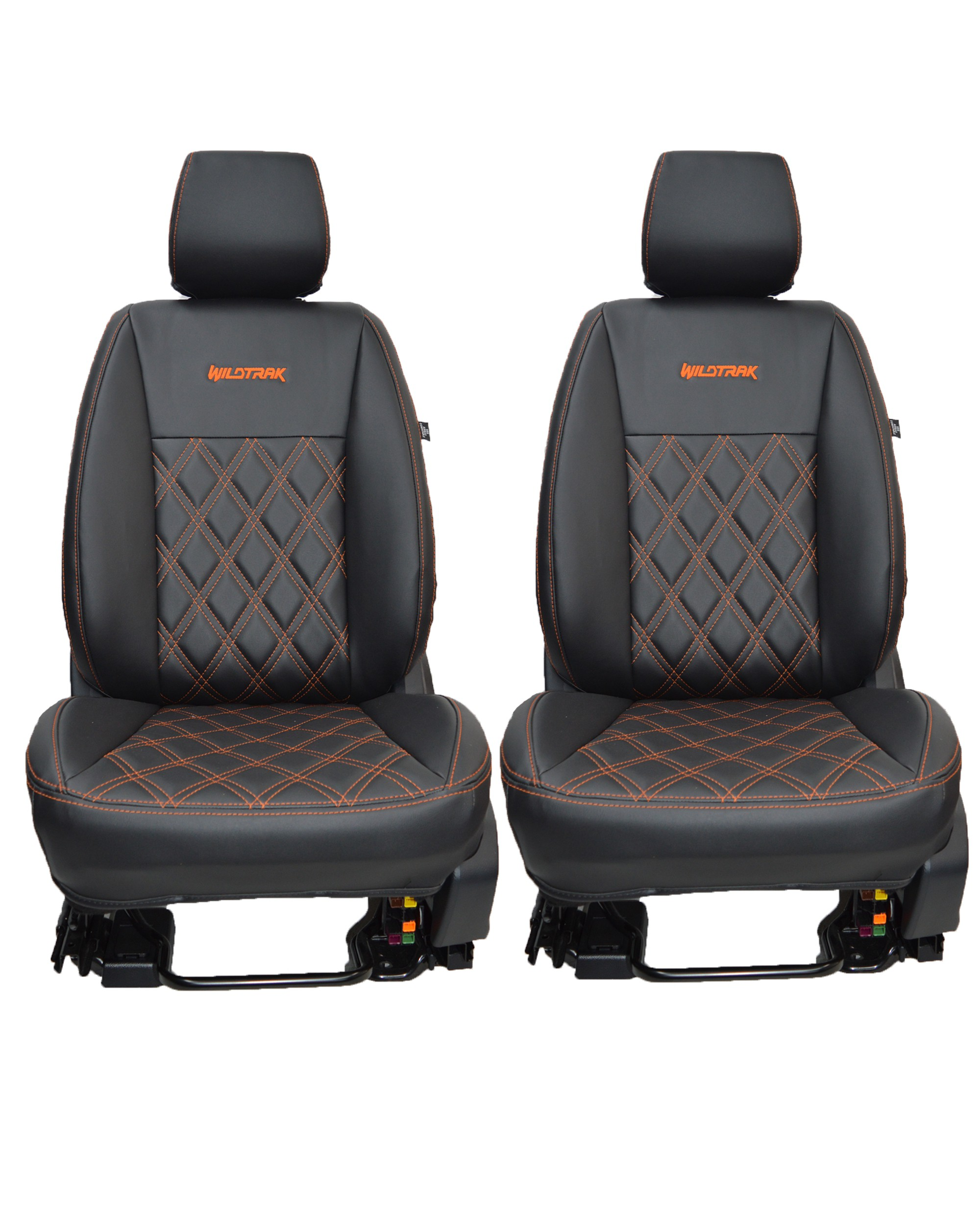 Ford Ranger Wildtrak - Black & Orange Seat Covers