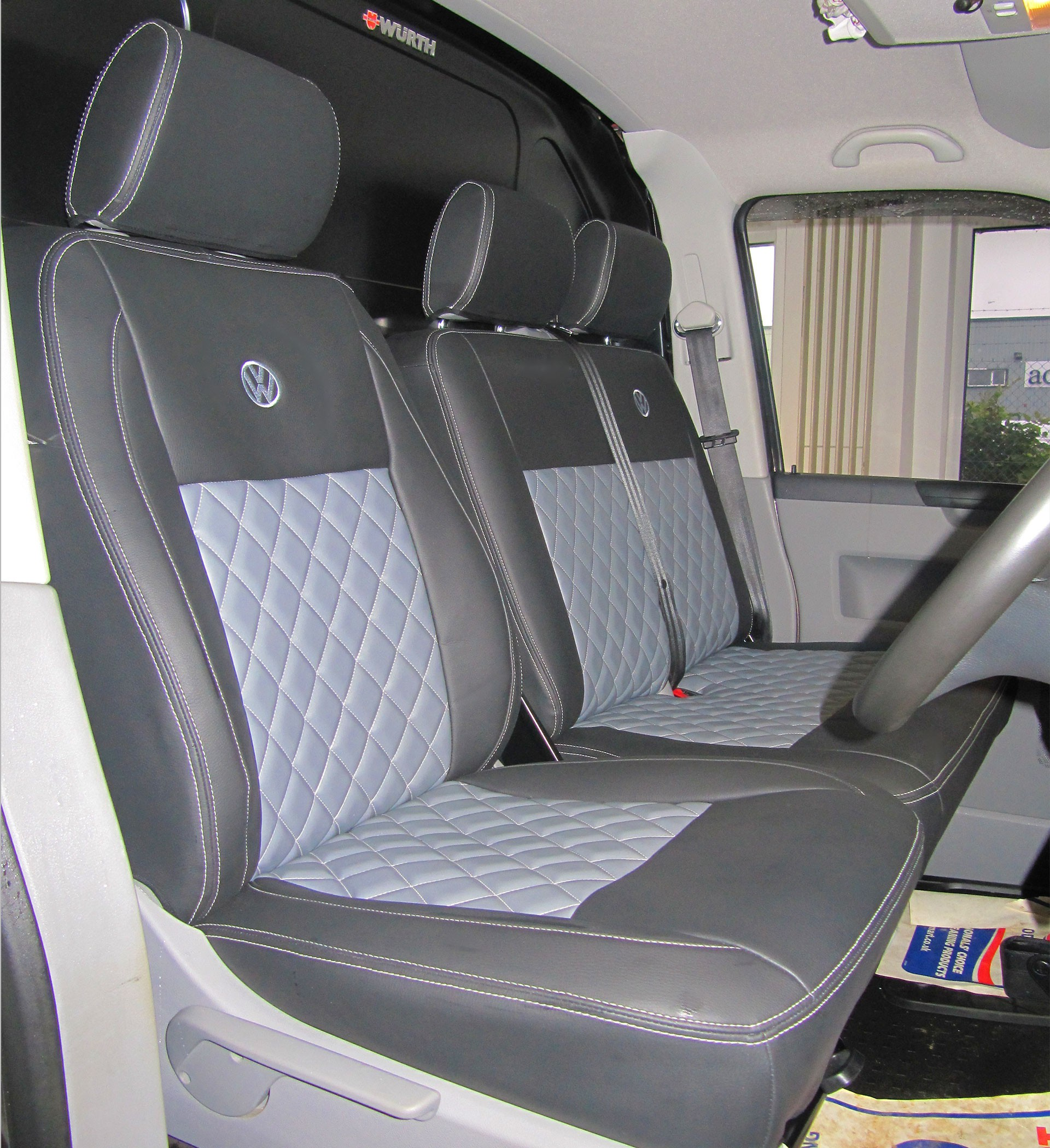 VW Transporter T6 Classic Diamond Tailored Seat Covers