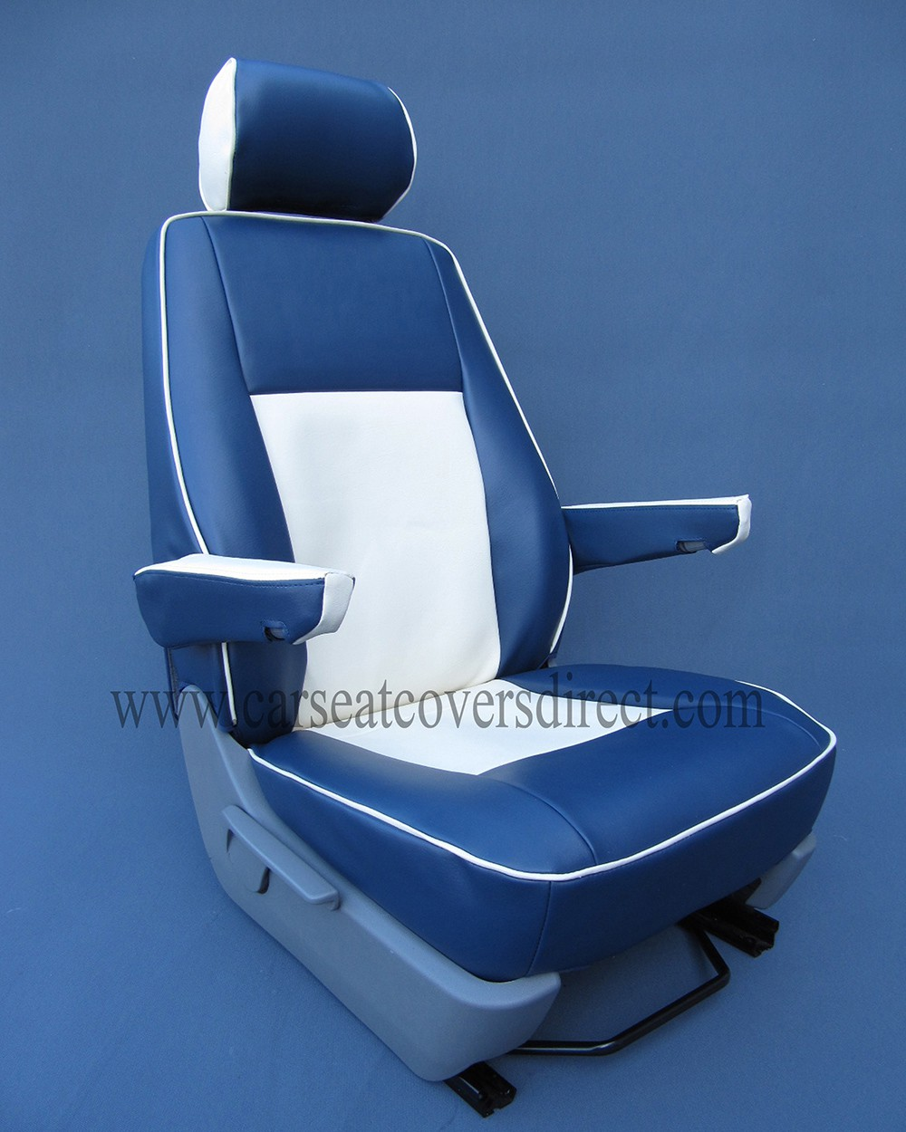 VOLKSWAGEN VW Transporter T5 Blue and White Seat Covers