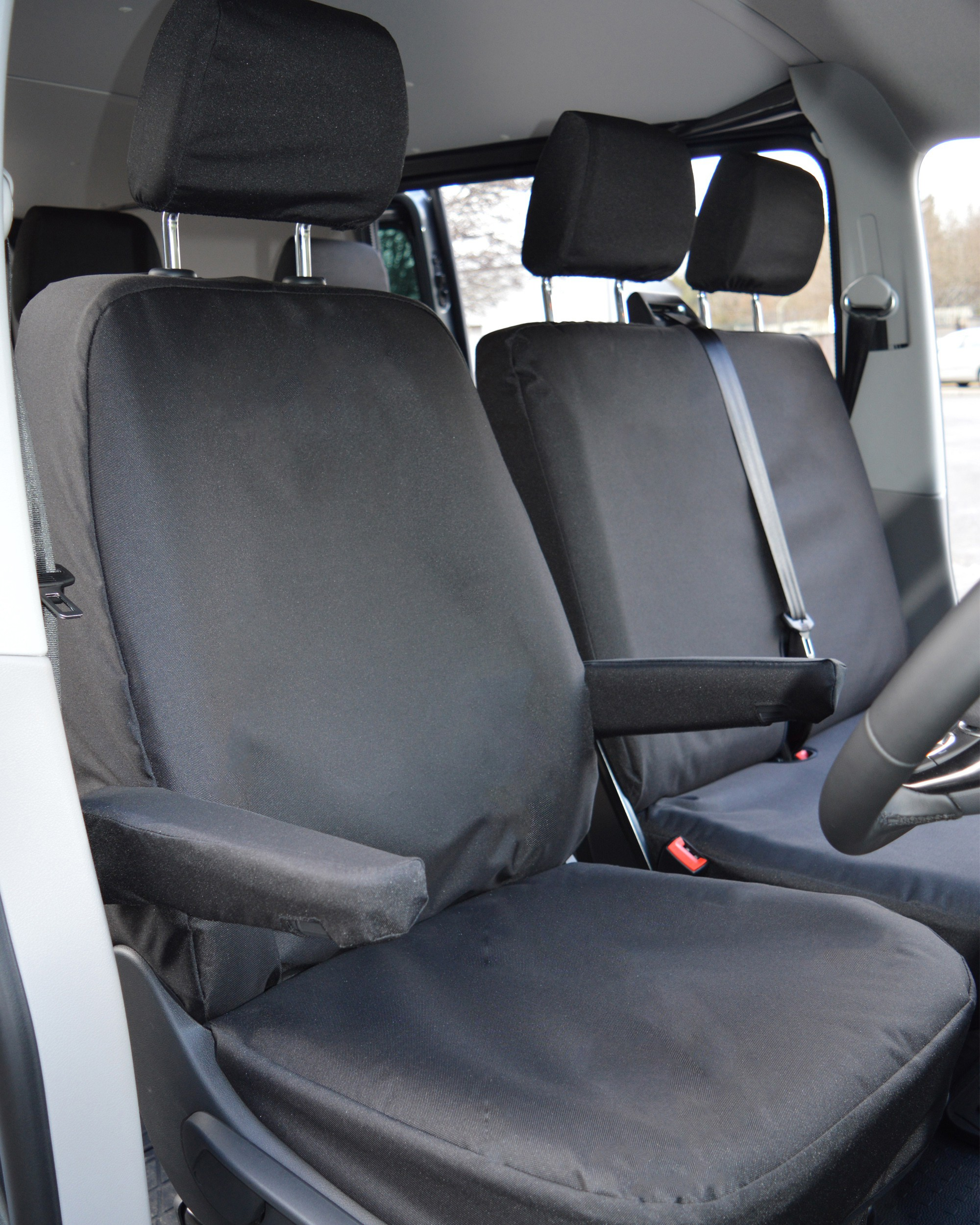 VW Transporter T6 extra heavy duty seat covers - drivers seat