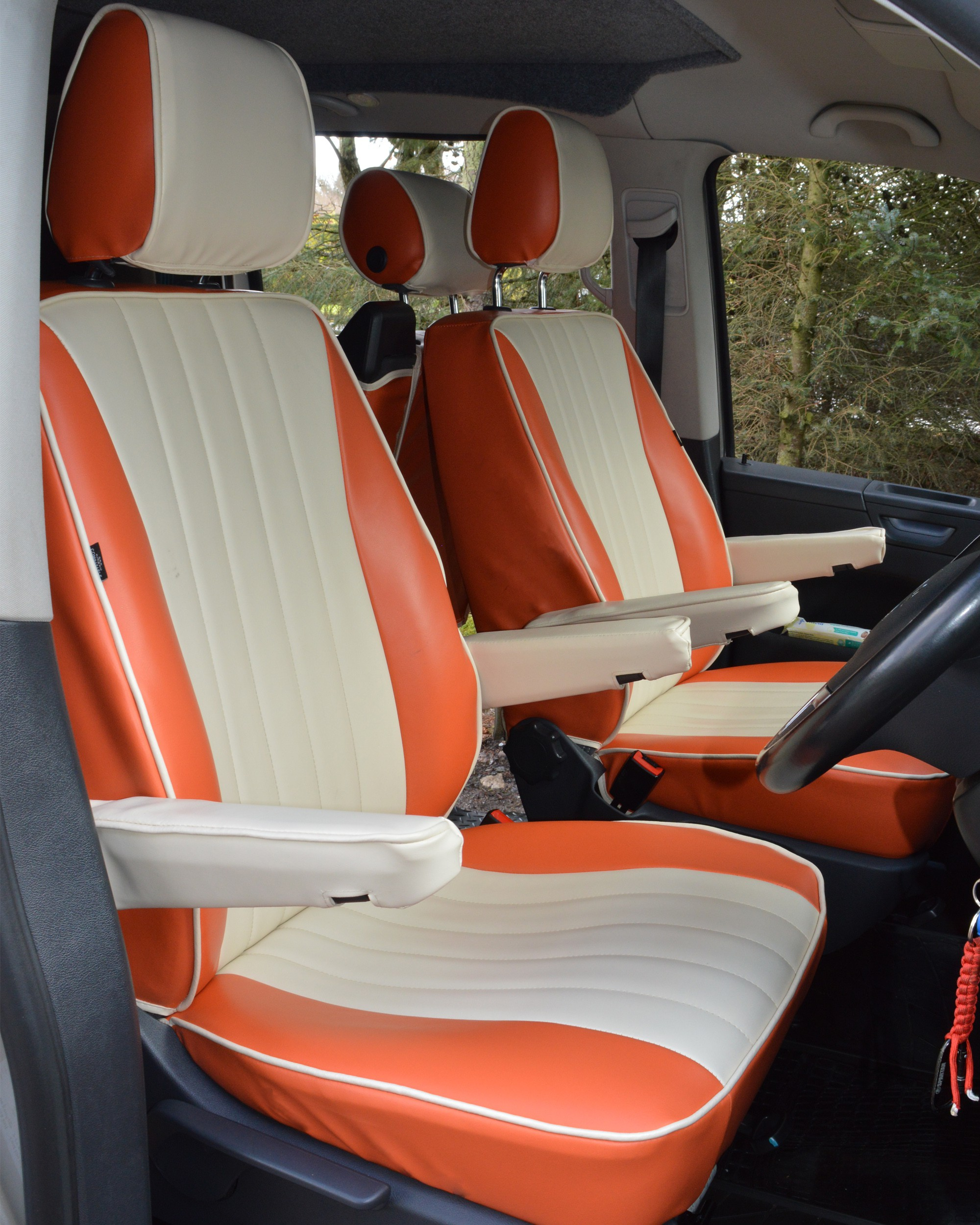 Volkswagen T6 Caravelle Camper (6 seats) Orange & Cream