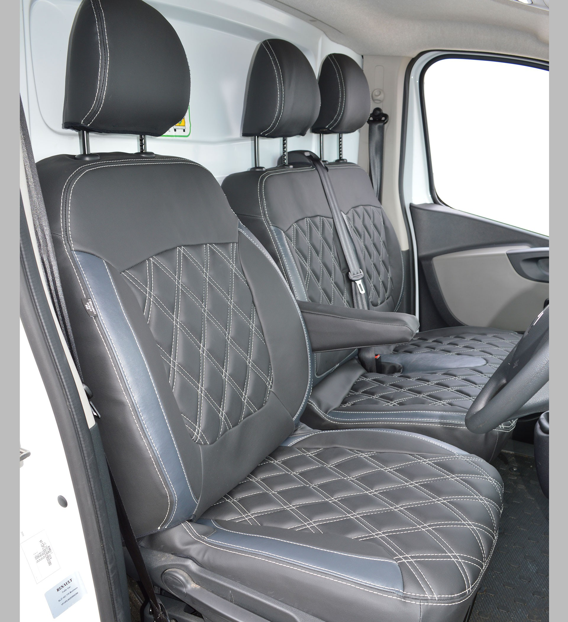 Renault Trafic Tailored Leather Look seat covers