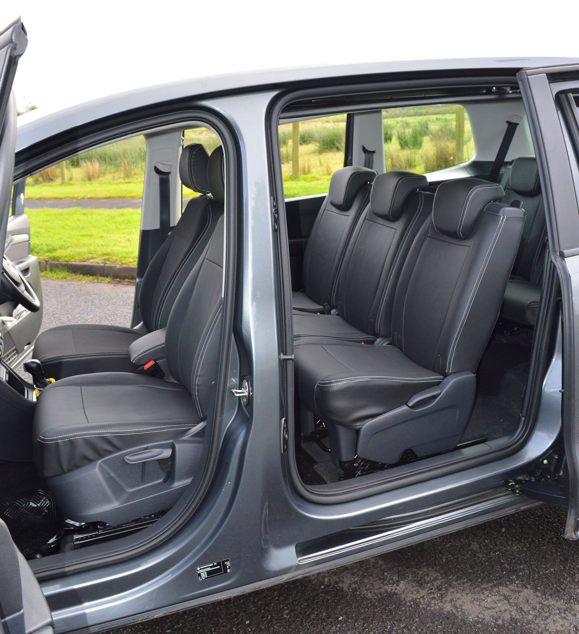 SEAT Alhambra Waterproof Leather Look Tailored Seat Covers