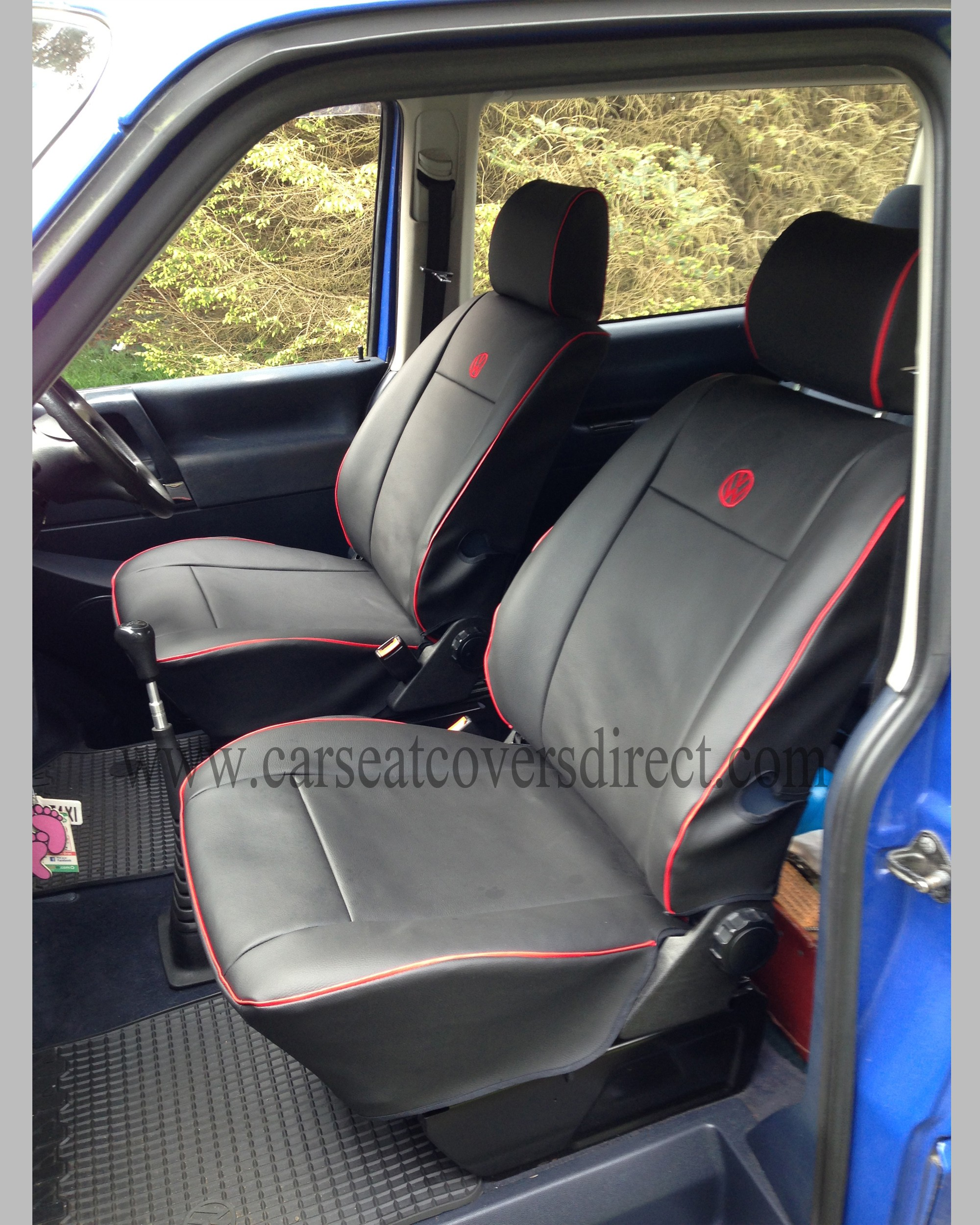 VOLKSWAGEN VW Transporter T4 Black Seat Covers