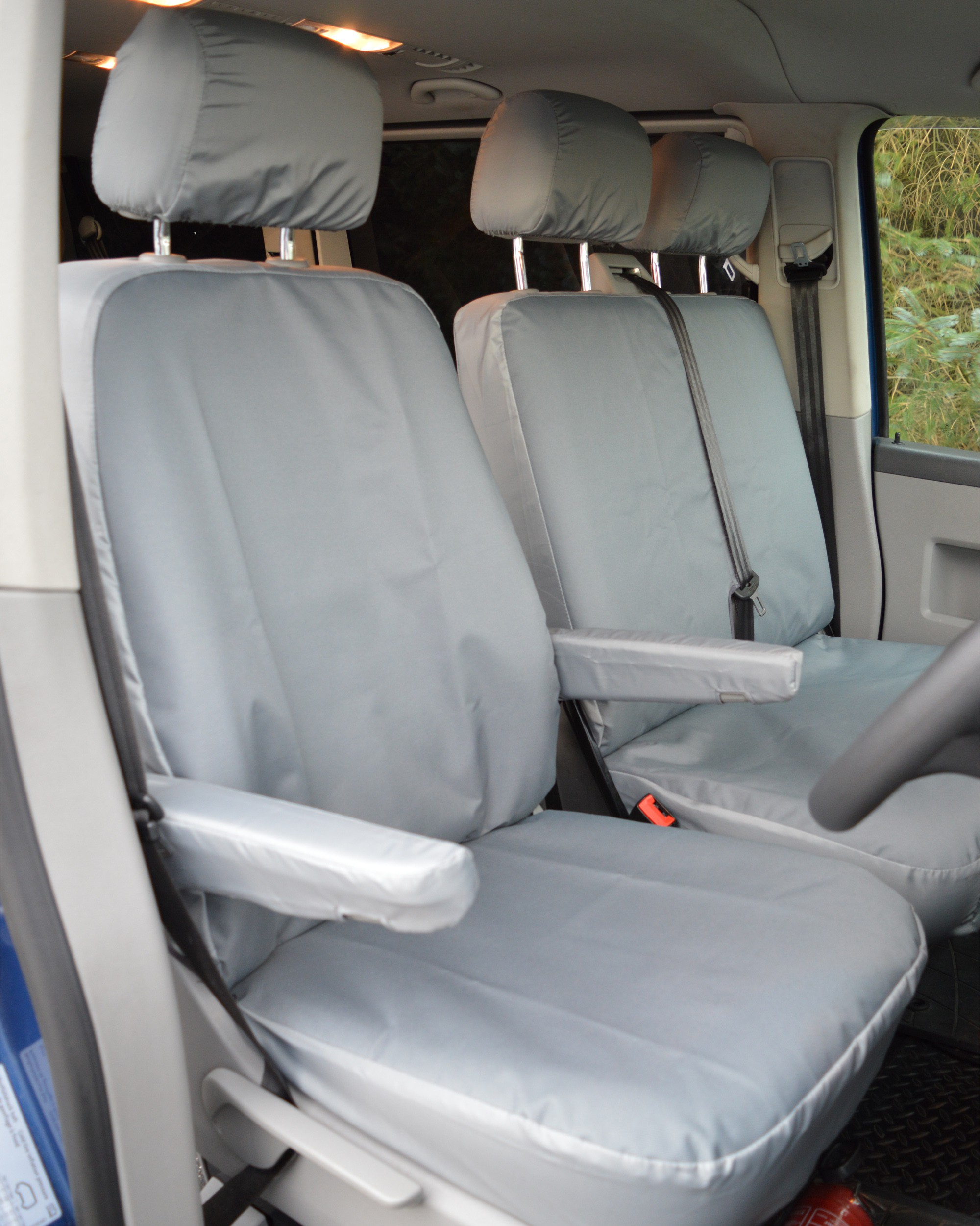 Volkswagen Transporter -  Grey Heavy Duty Seat Covers - Drivers Seat