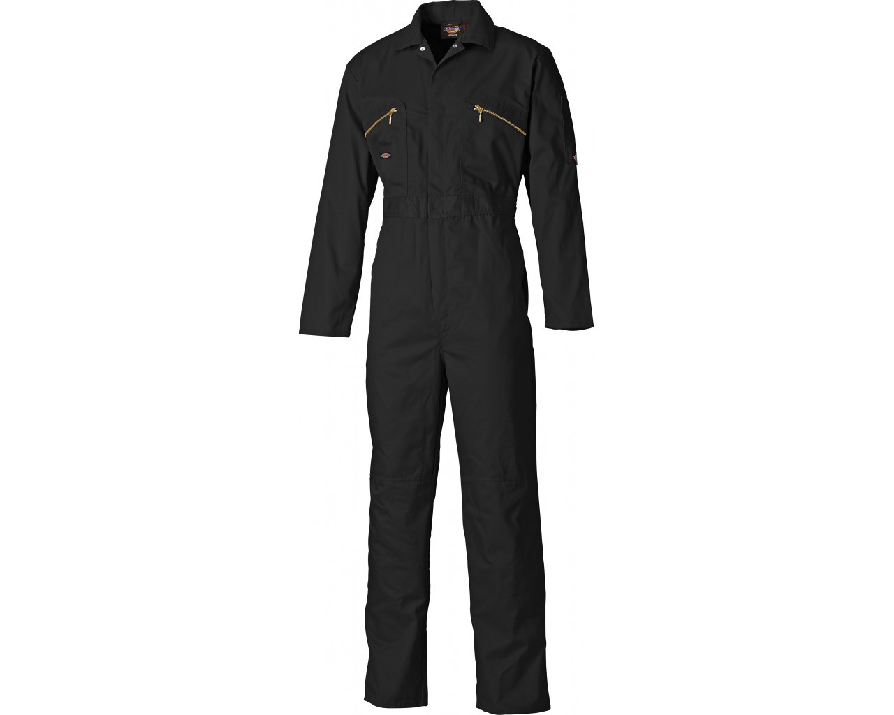 Dickies Redhawk Black Overall with Zip Front (WD4839)