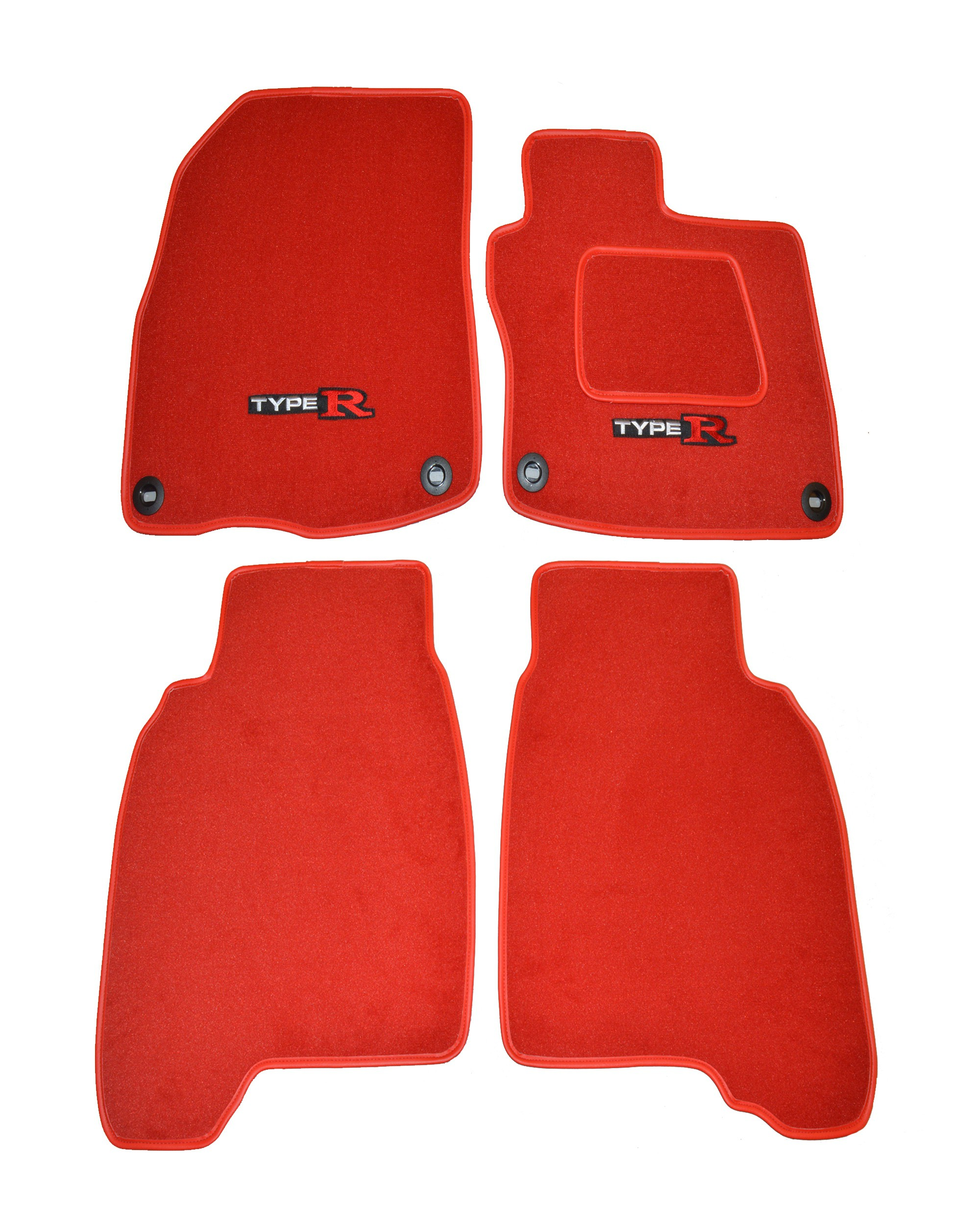 Honda Civic Type R FN2 Red Car Mats Full Set
